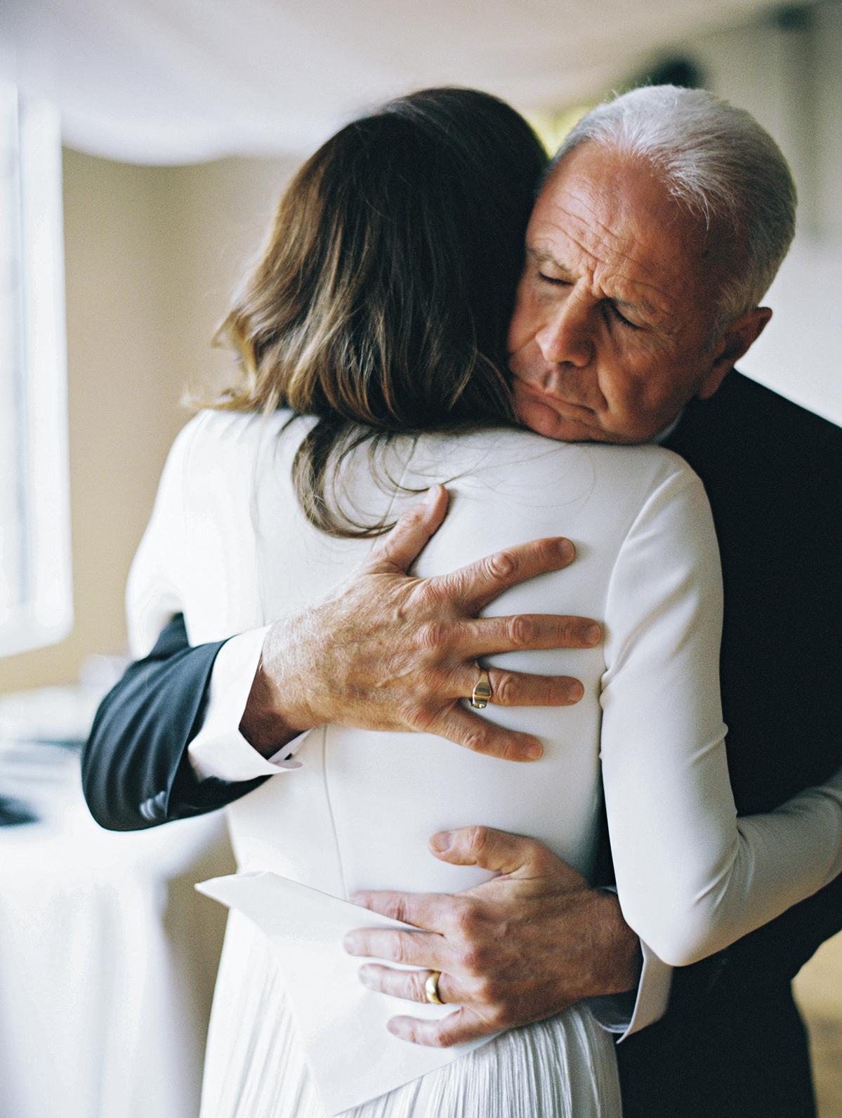joanna jay wedding father embrace
