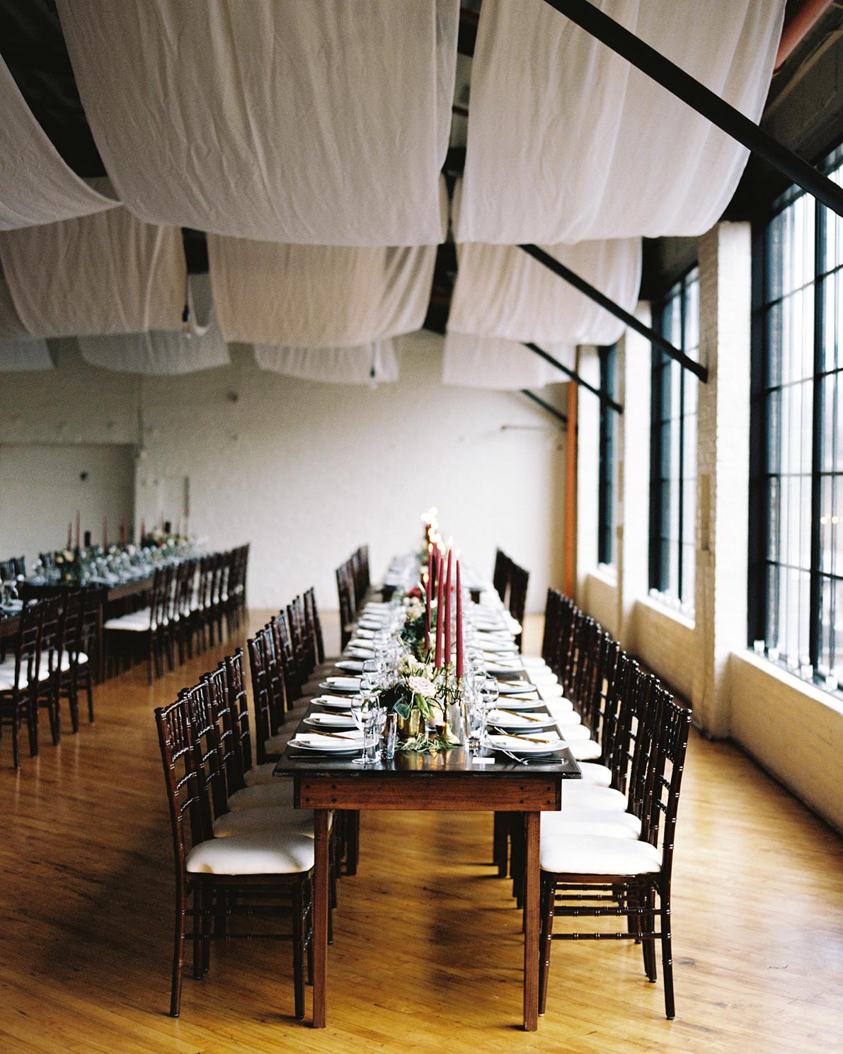 joanna jay wedding reception table window