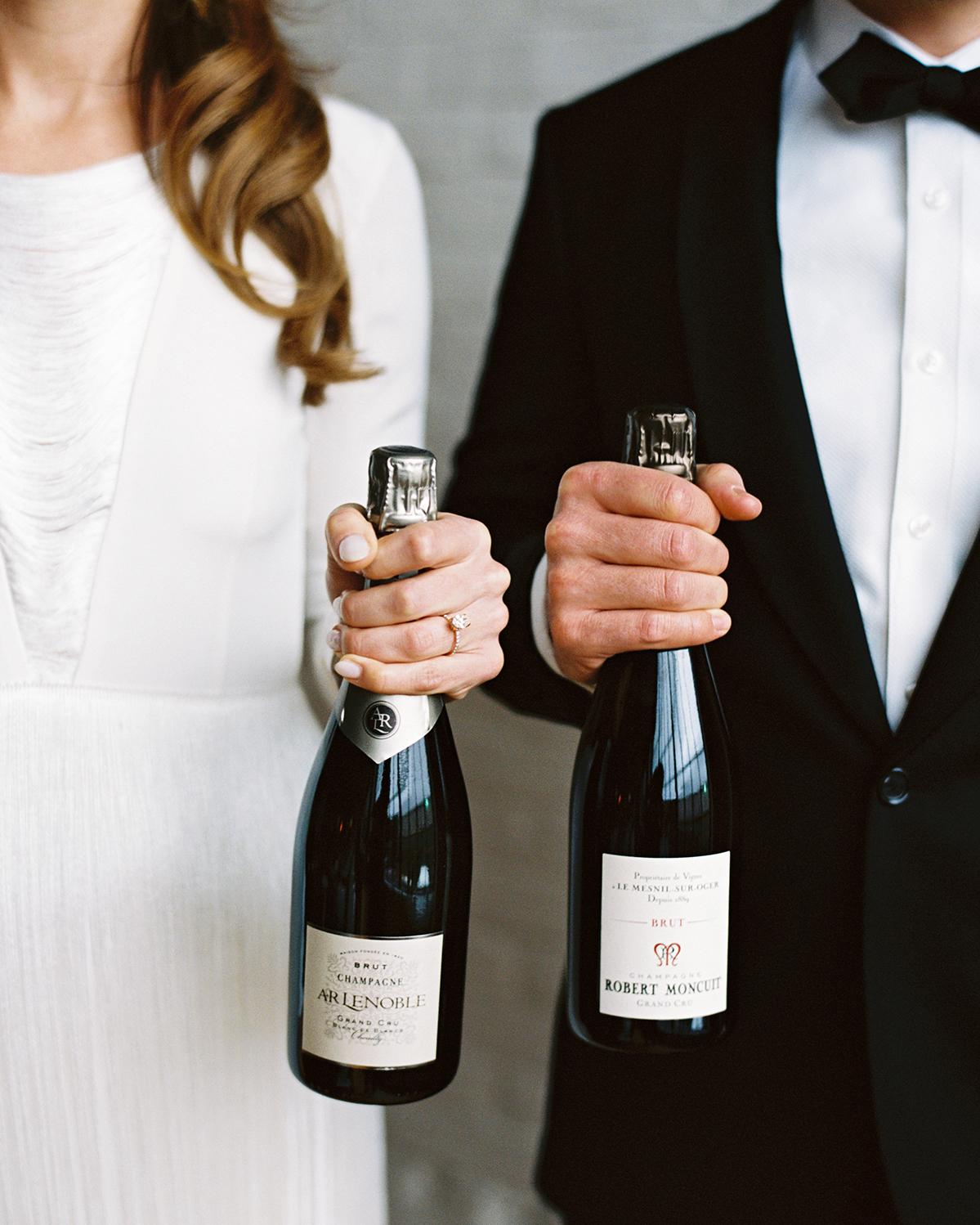 joanna jay wedding couple wine bottles