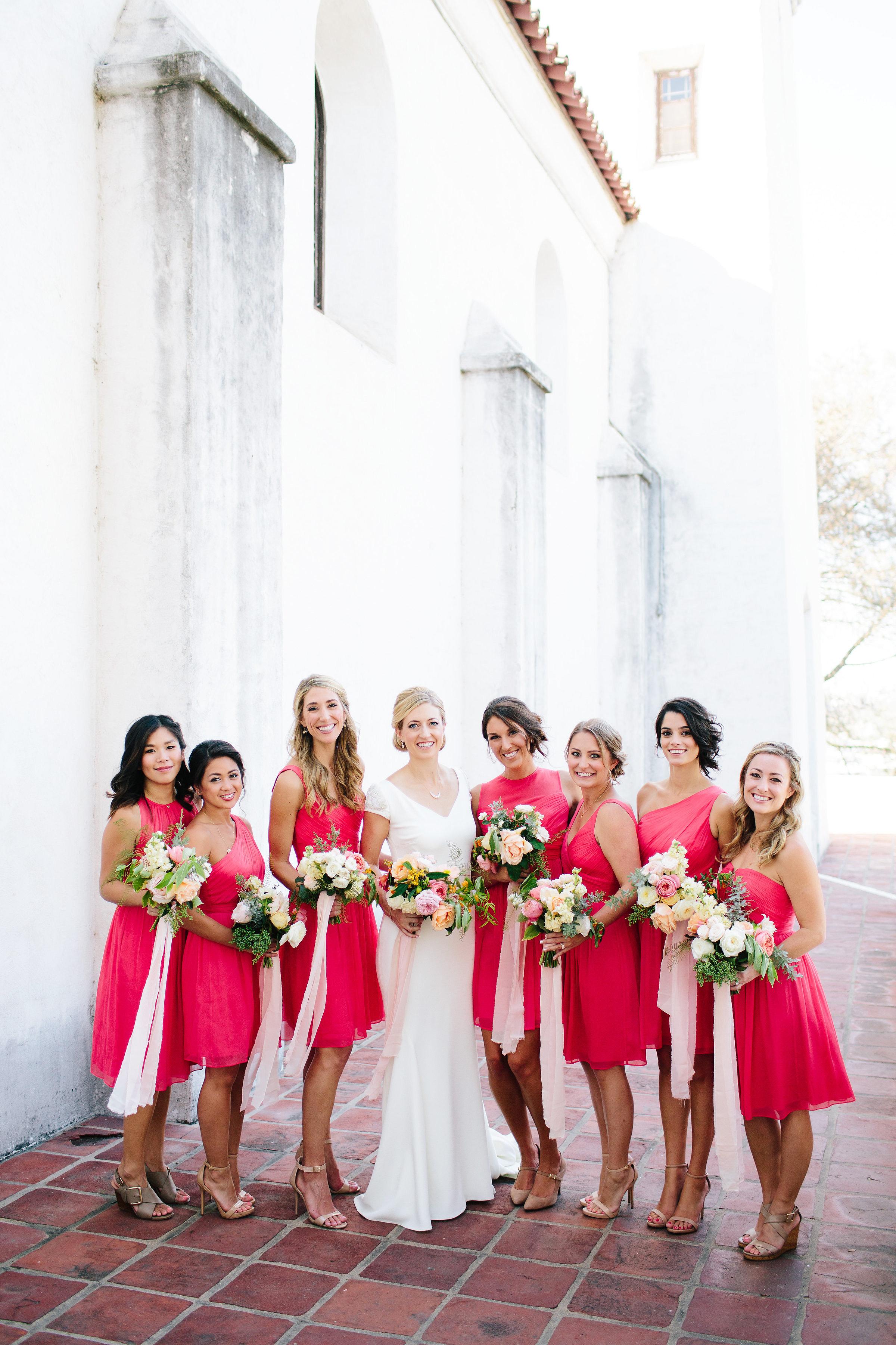 julie anthony real wedding bridesmaids