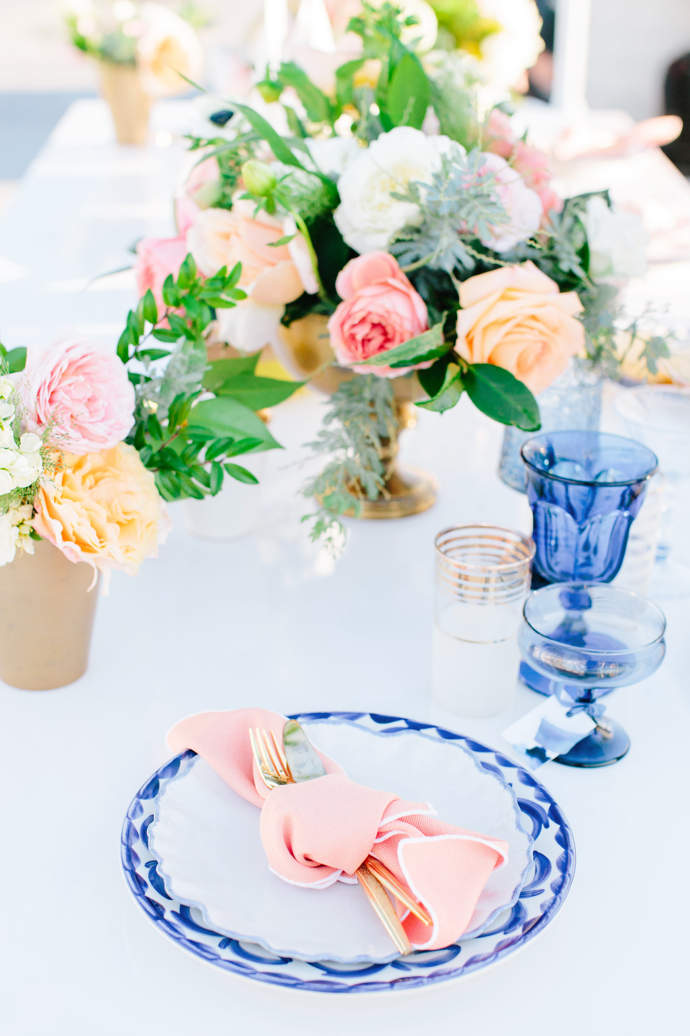 julie anthony real wedding place setting