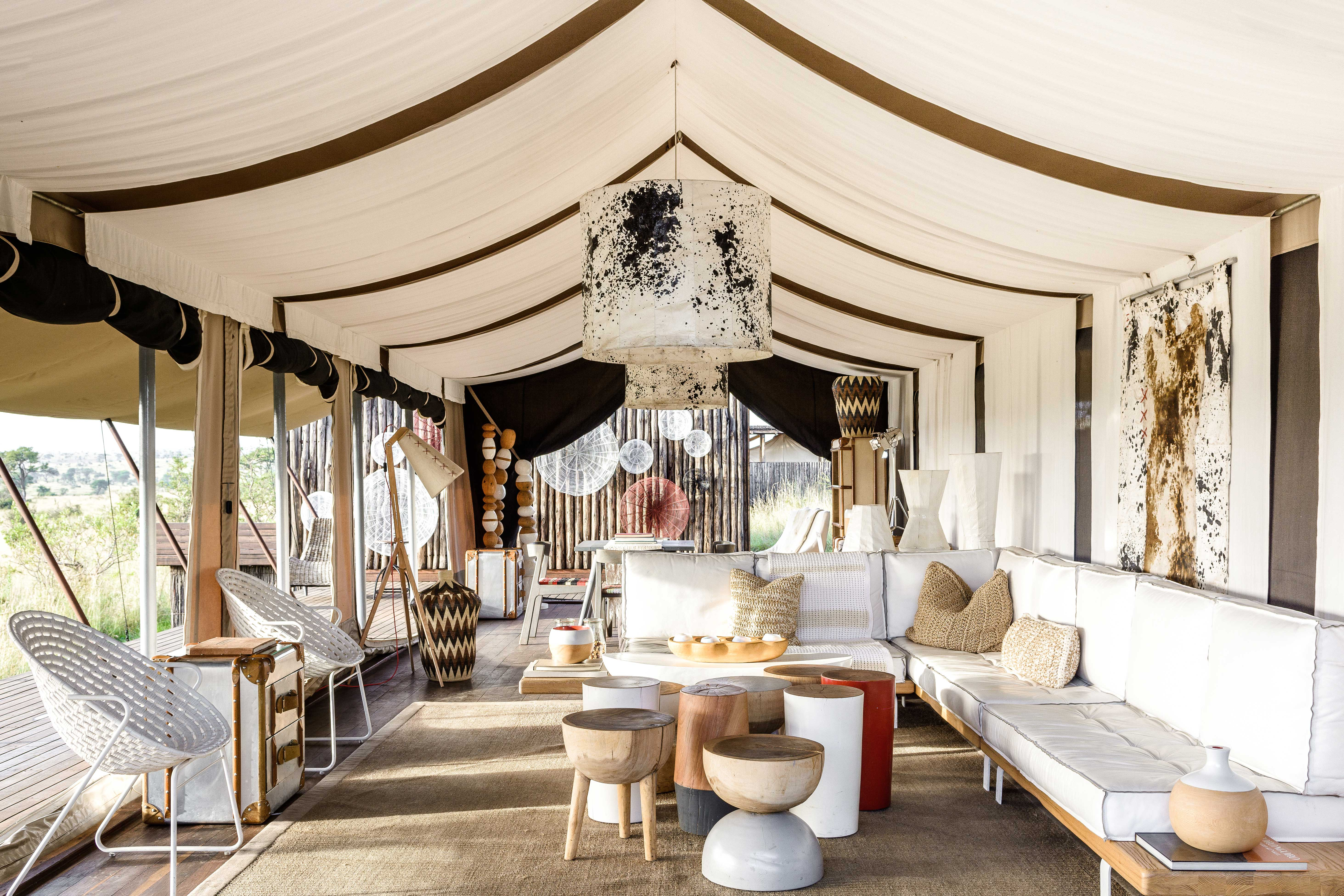 tented camp room