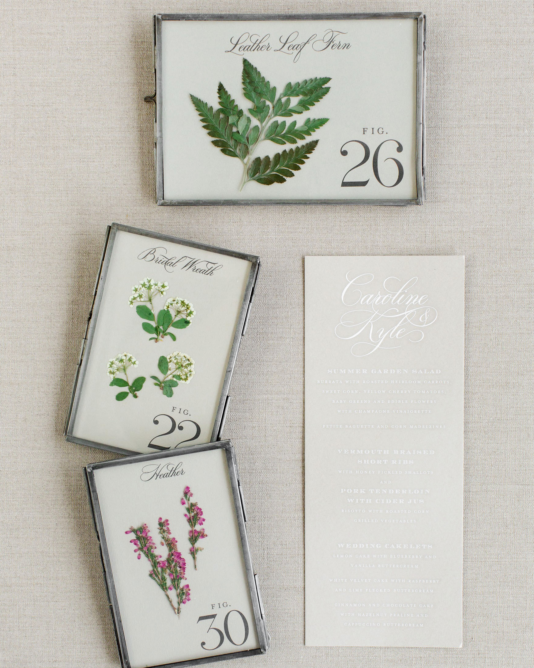 caroline kyle wedding table numbers