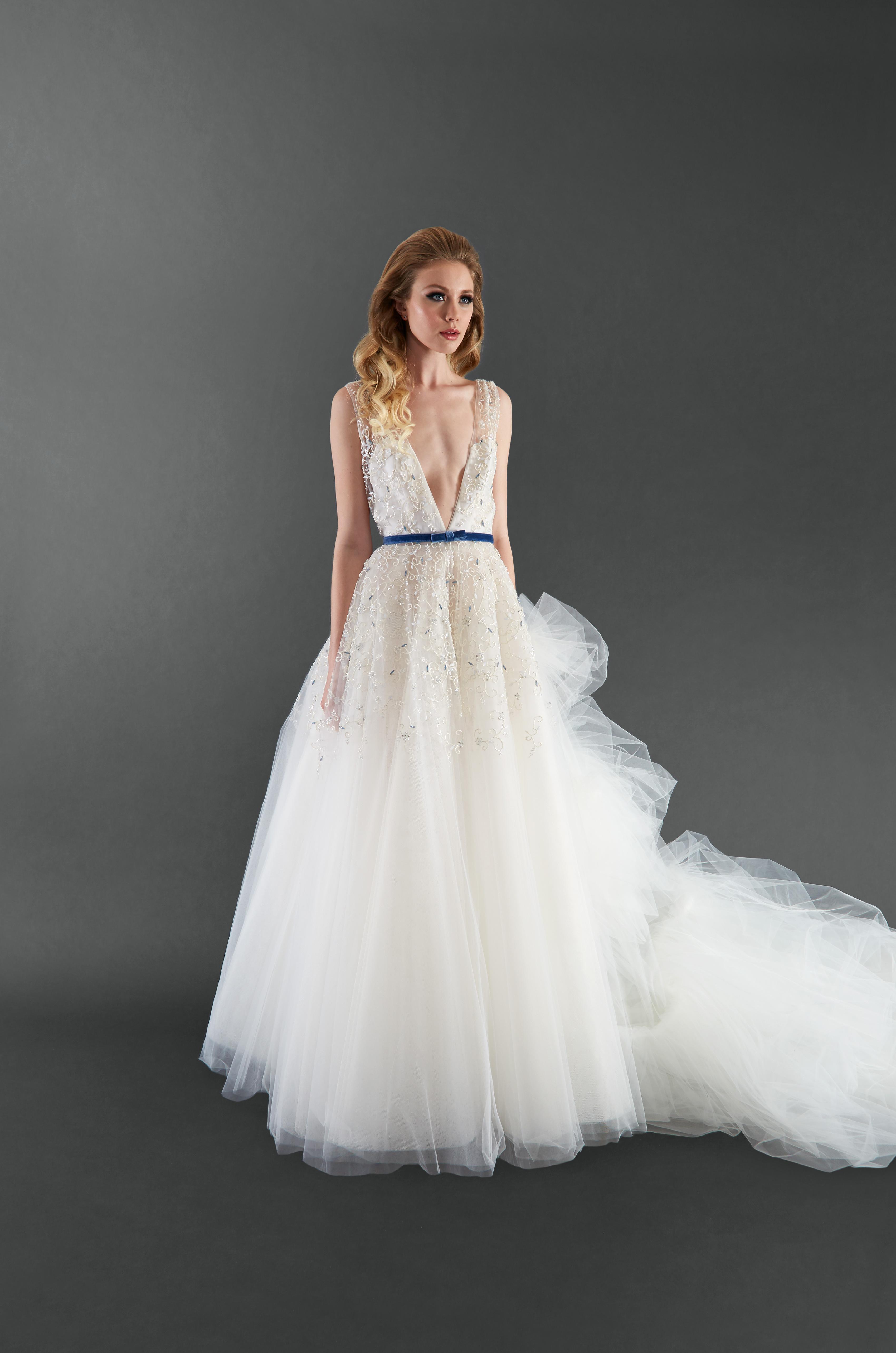 randi rahm v-neck a-line wedding dress spring 2018