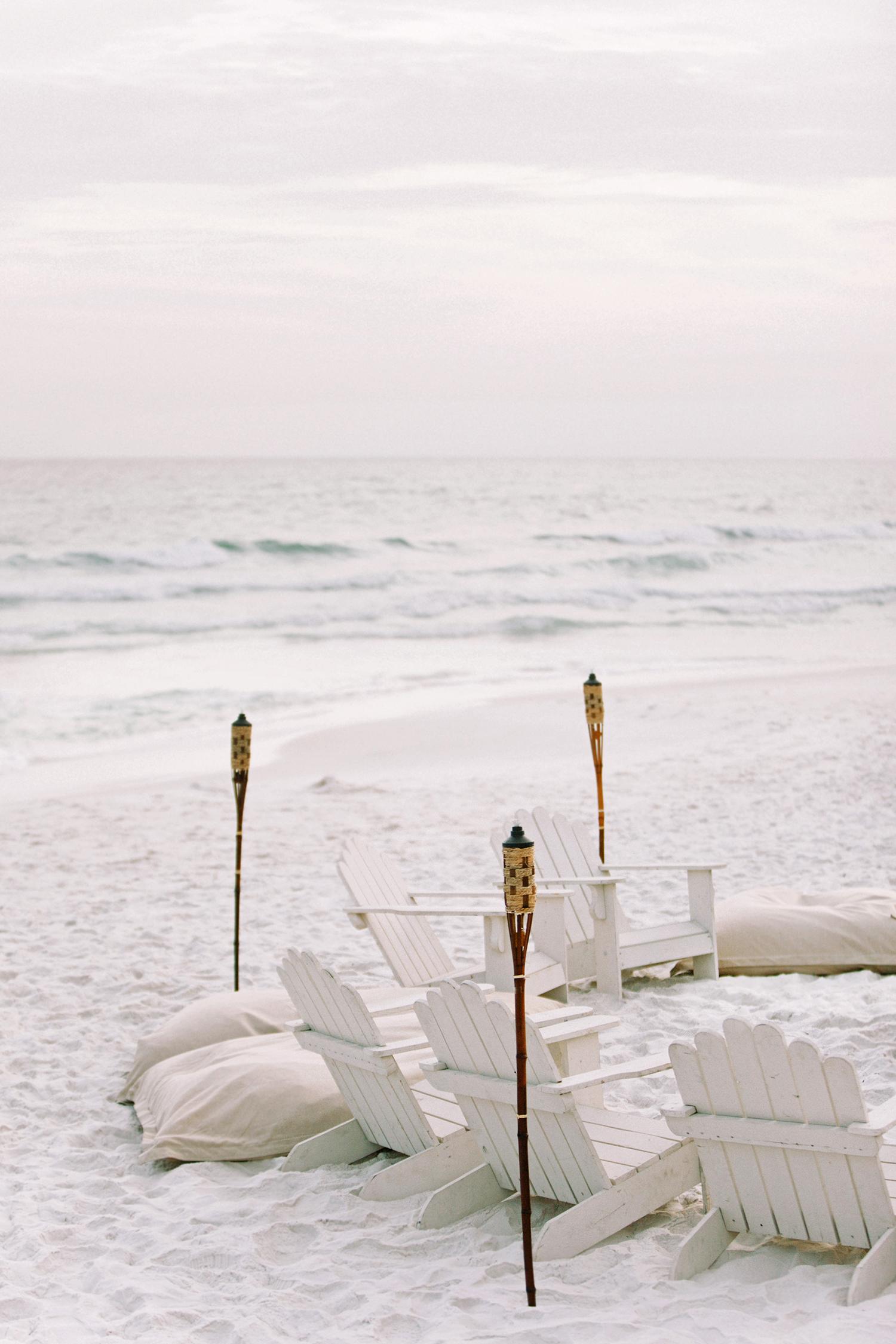 wedding lounge white Adirondack chairs and cushions