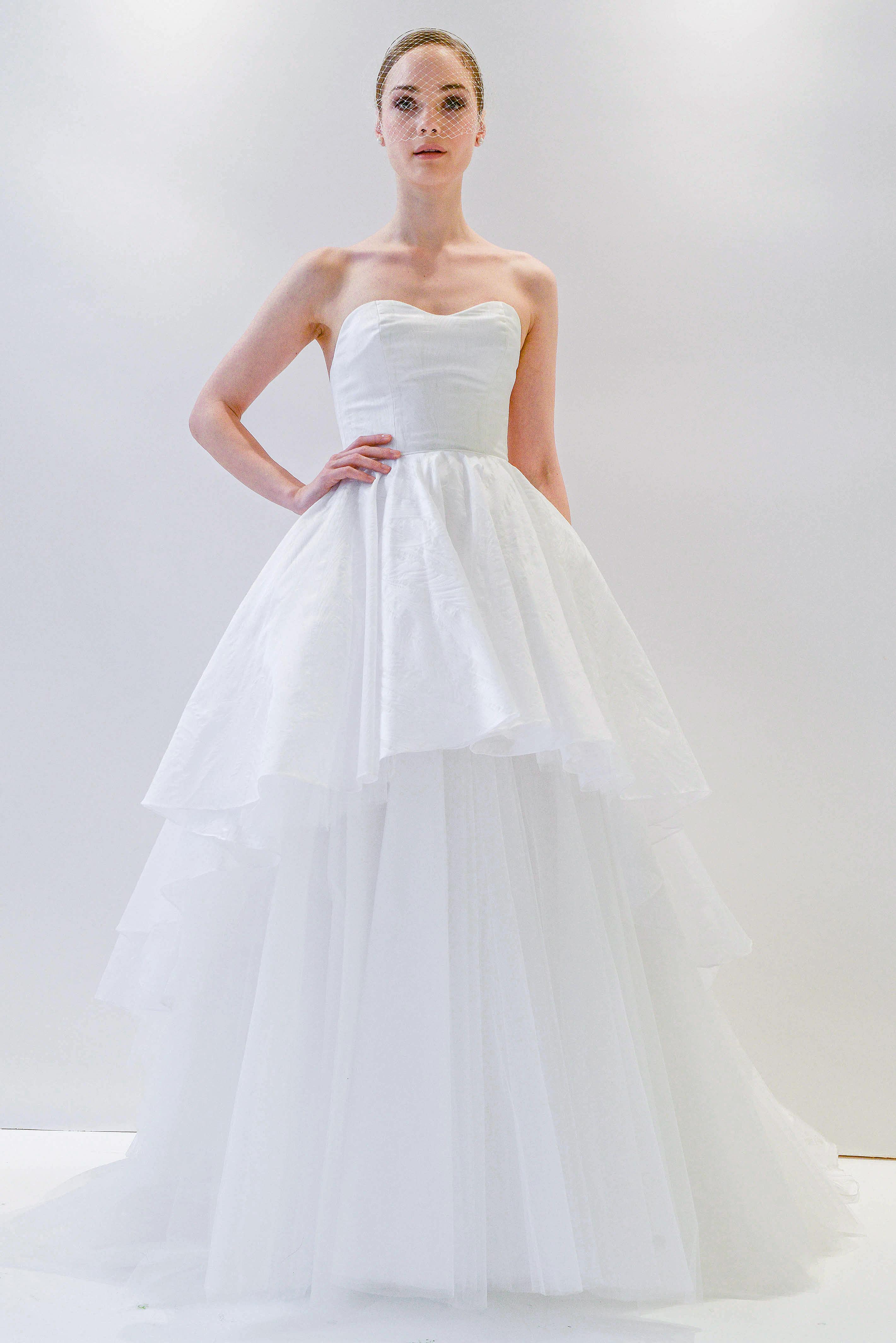 watters strapless wedding dress spring 2018