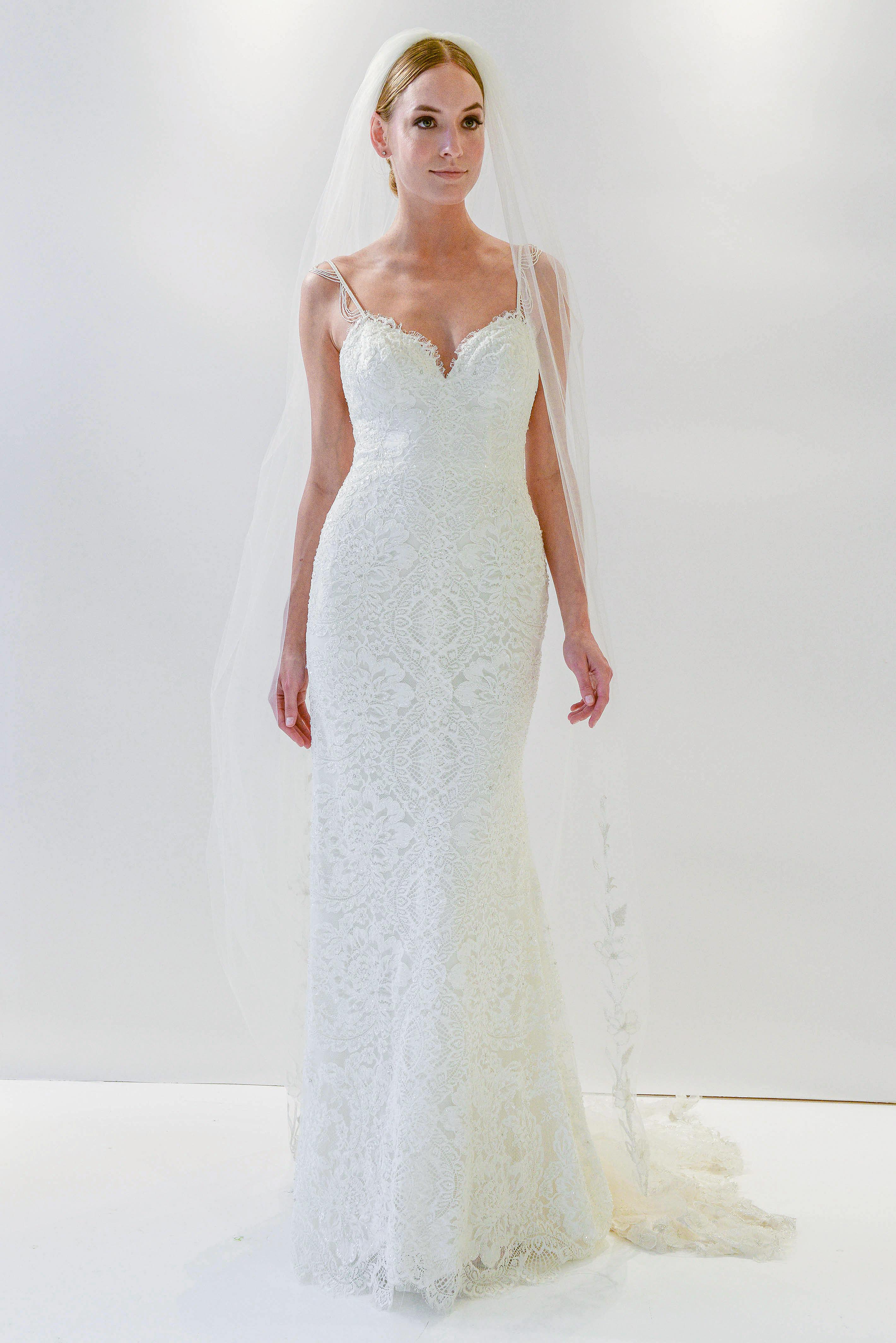 watters sheath wedding dress spring 2018