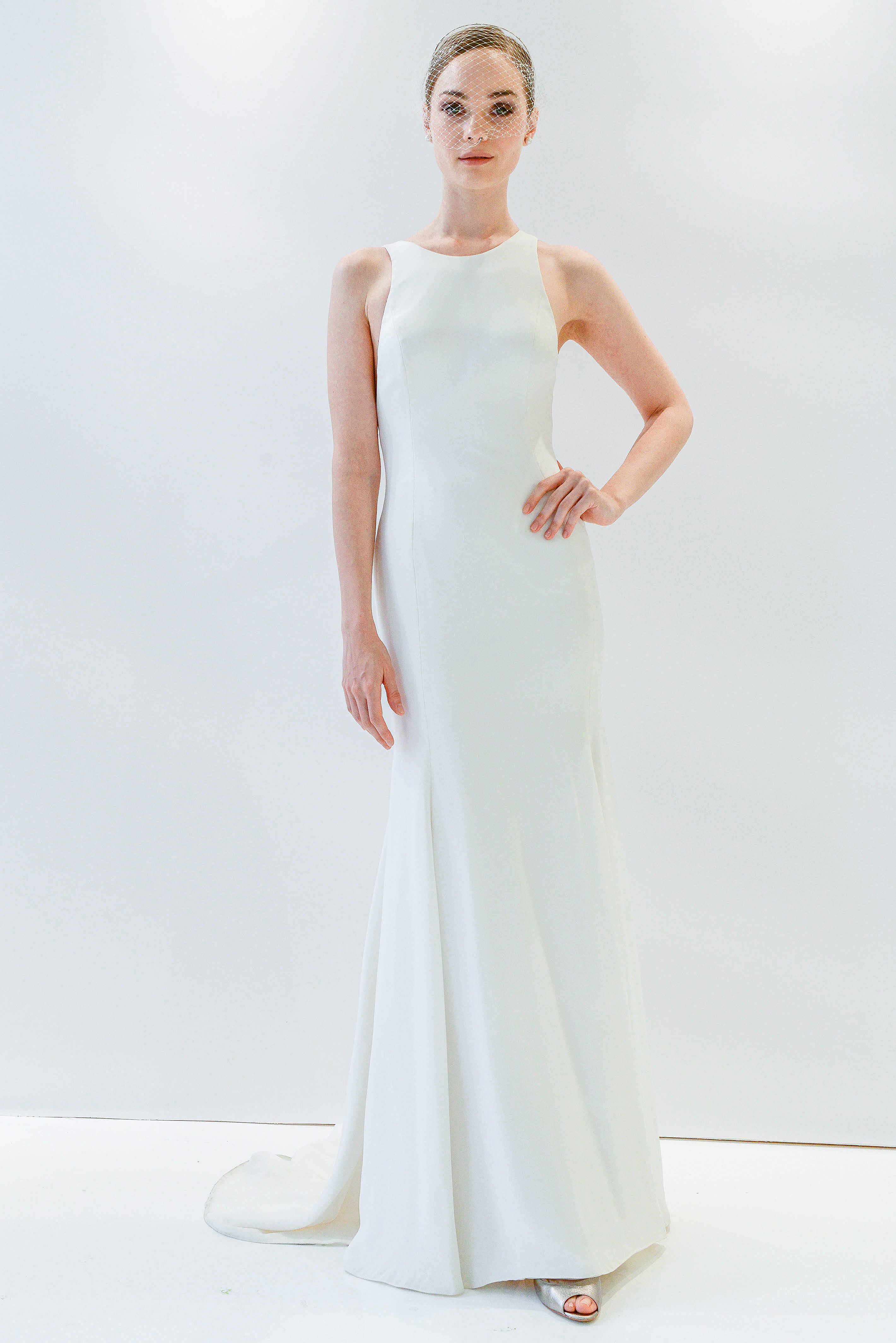 watters simple sheath wedding dress spring 2018