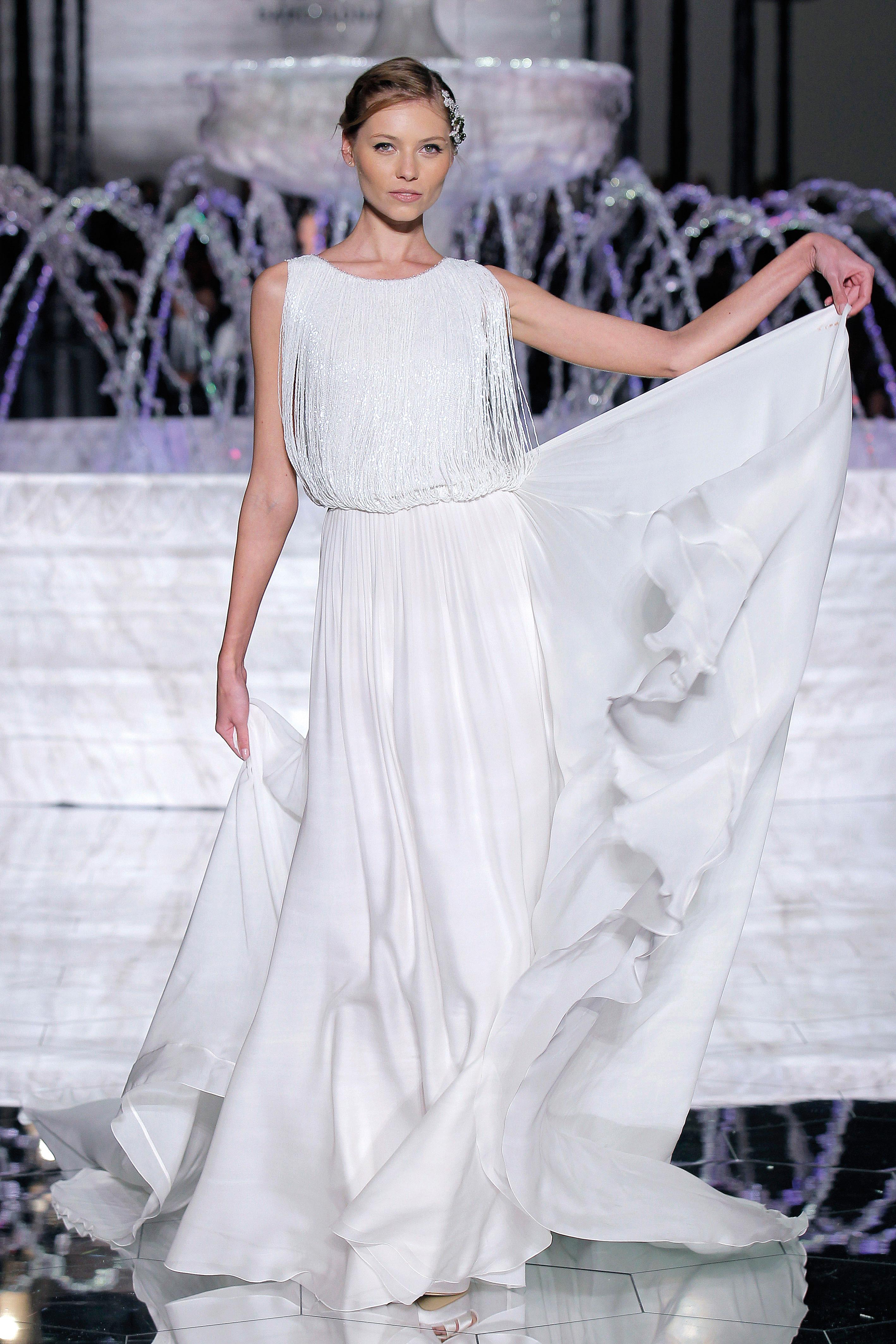 pronovias embellished top wedding dress spring 2018