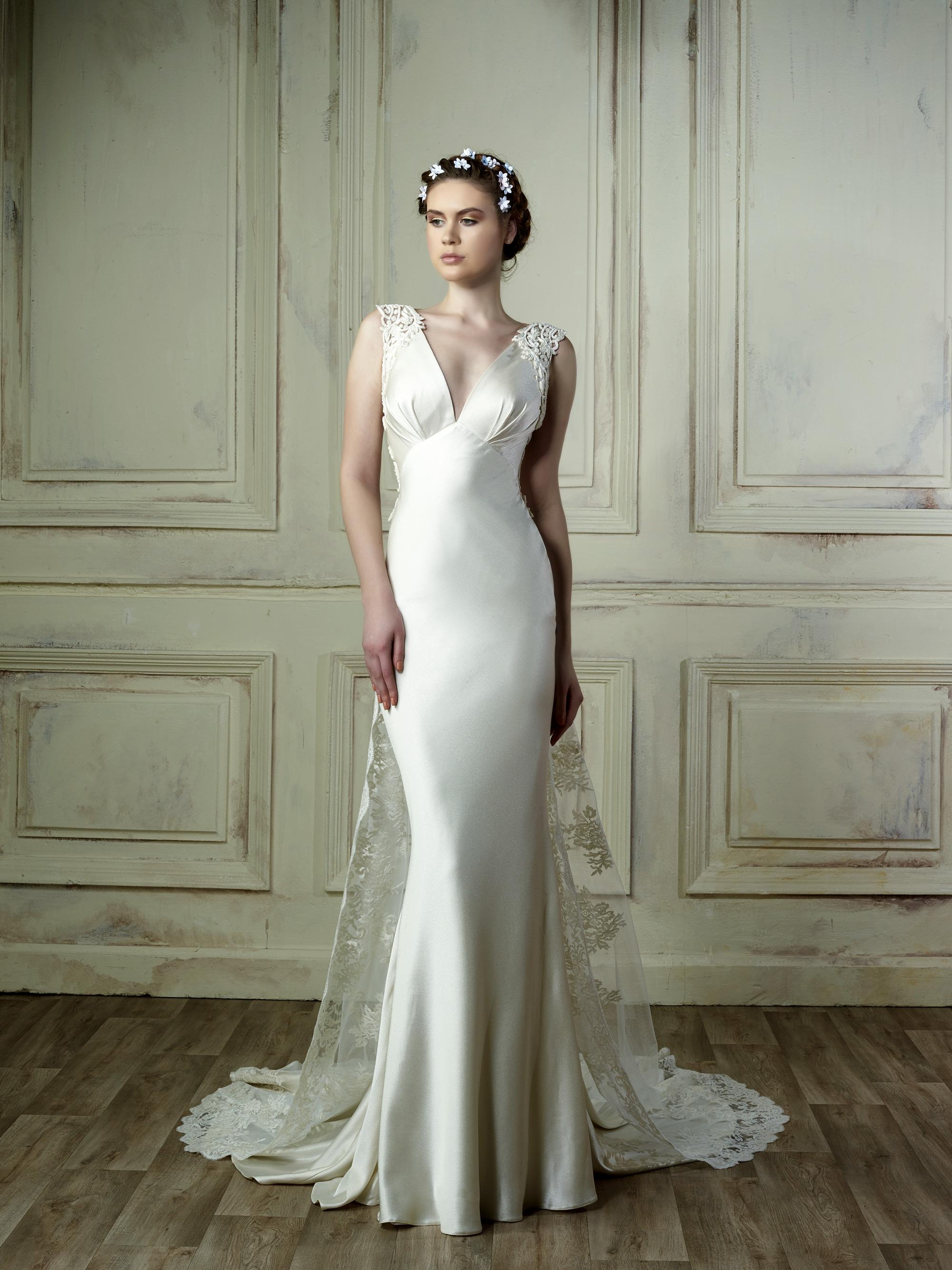 gemy maalouf sheath wedding dress spring 2018