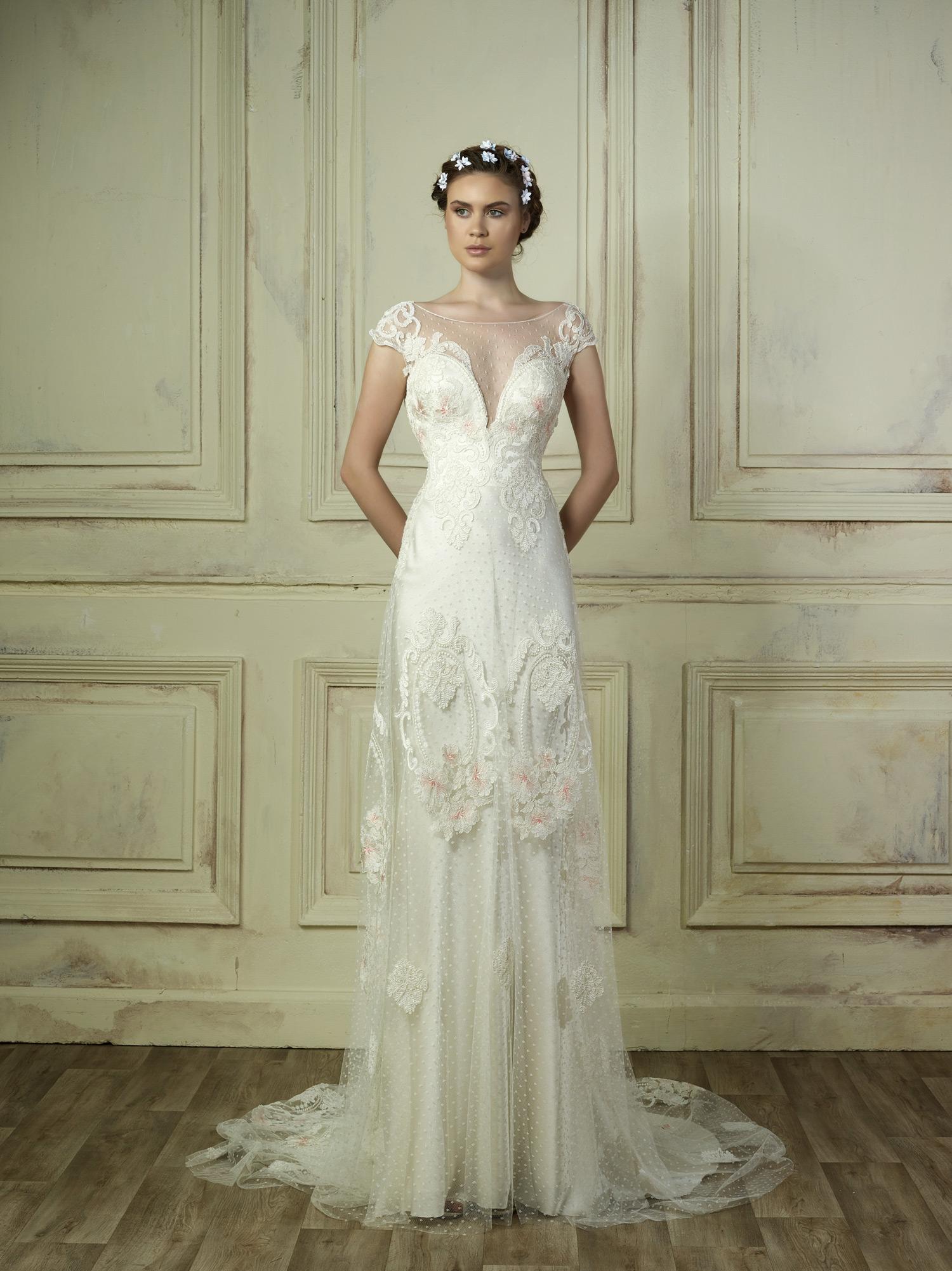 gemy maalouf illusion off-the-shoulder wedding dress spring 2018