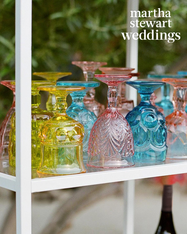 samira wiley lauren morelli wedding glassware