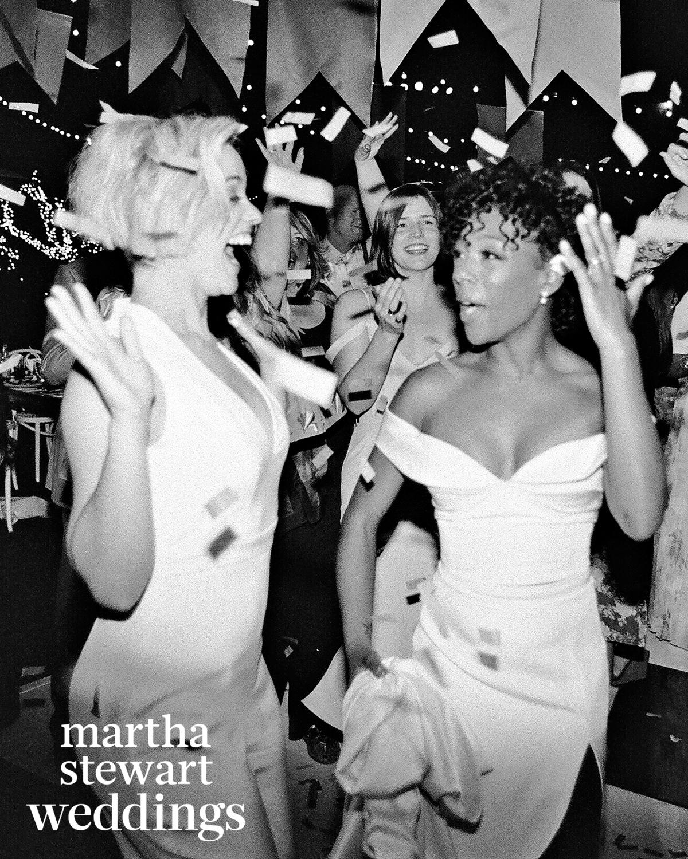 samira wiley lauren morelli wedding confetti