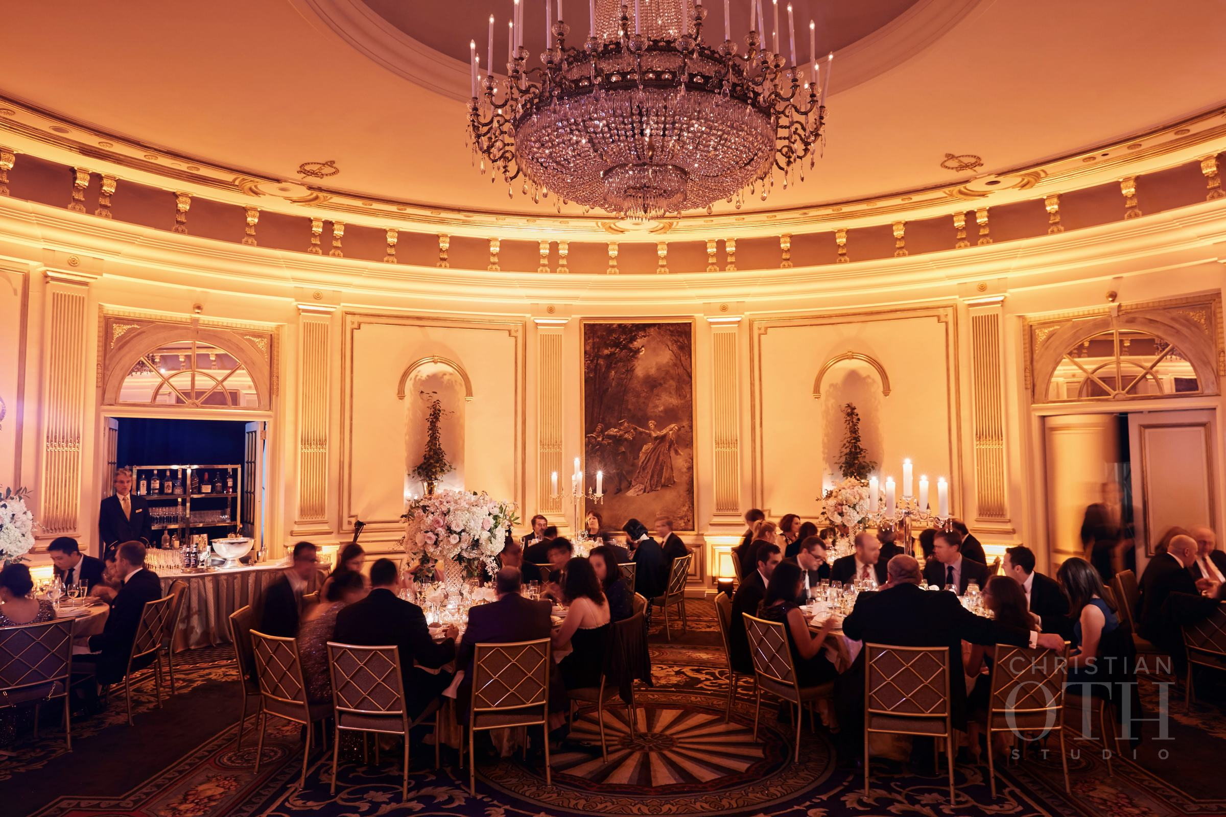 The Inside of a  Fancy Wedding Reception Venue