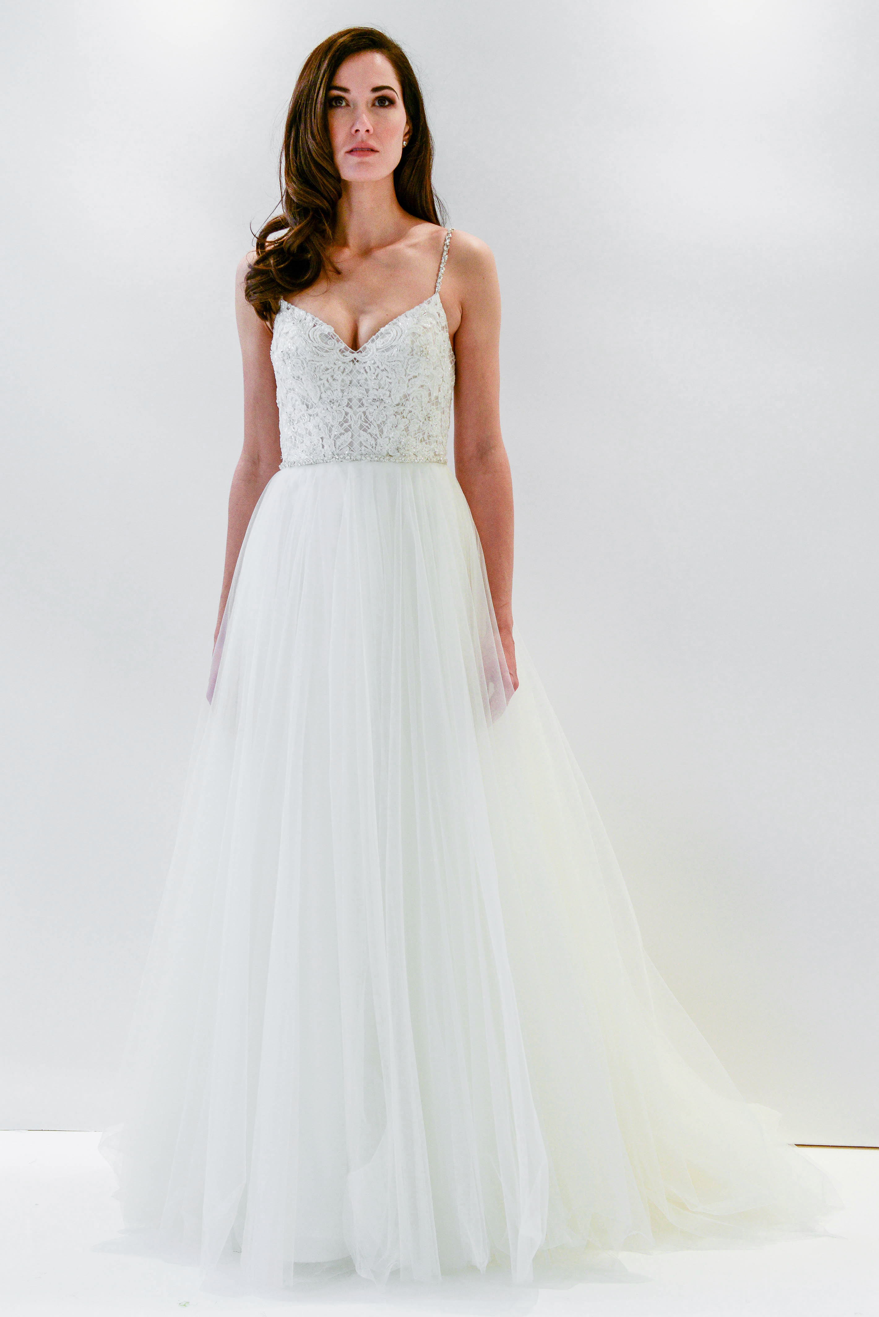 watters wtoo spaghetti strap a-line tulle wedding dress spring 2018