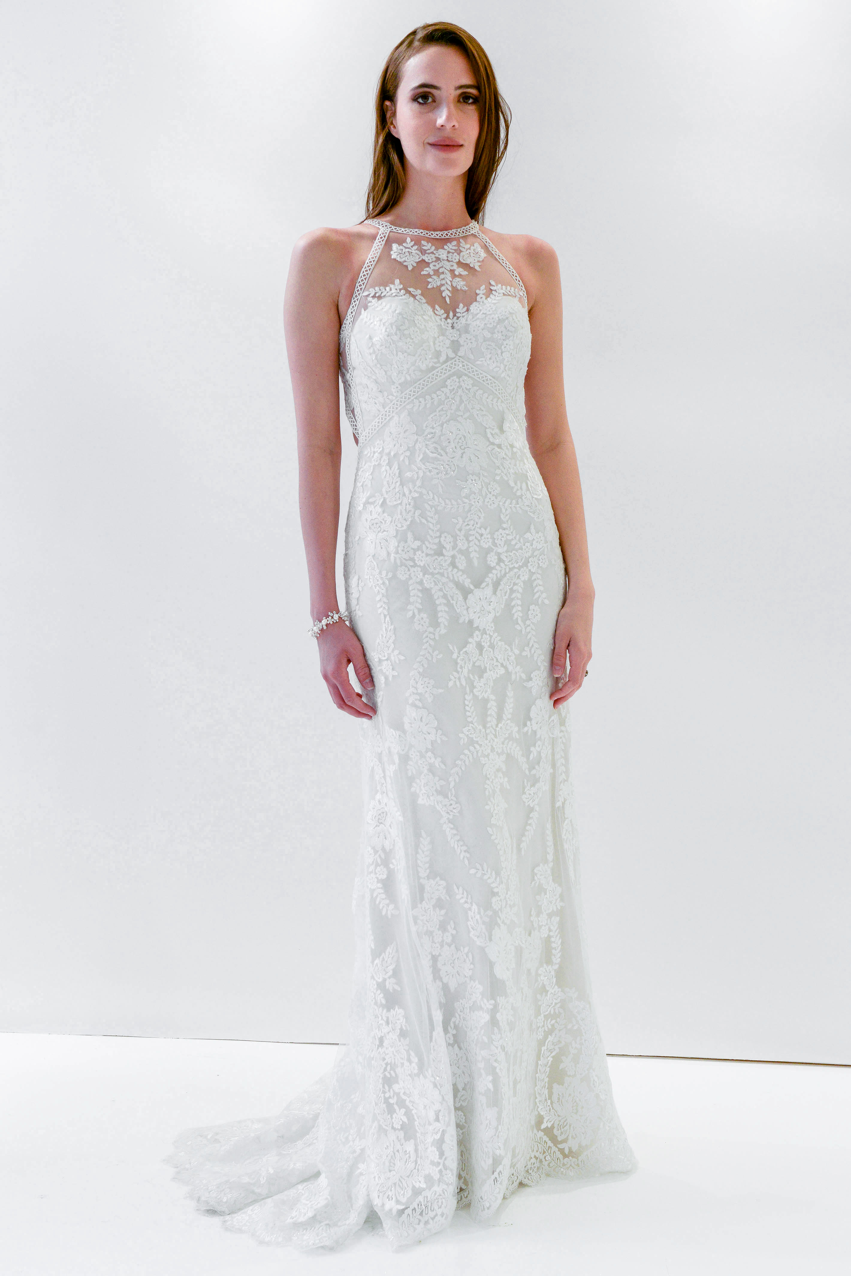 watters wtoo high neck lace wedding dress spring 2018