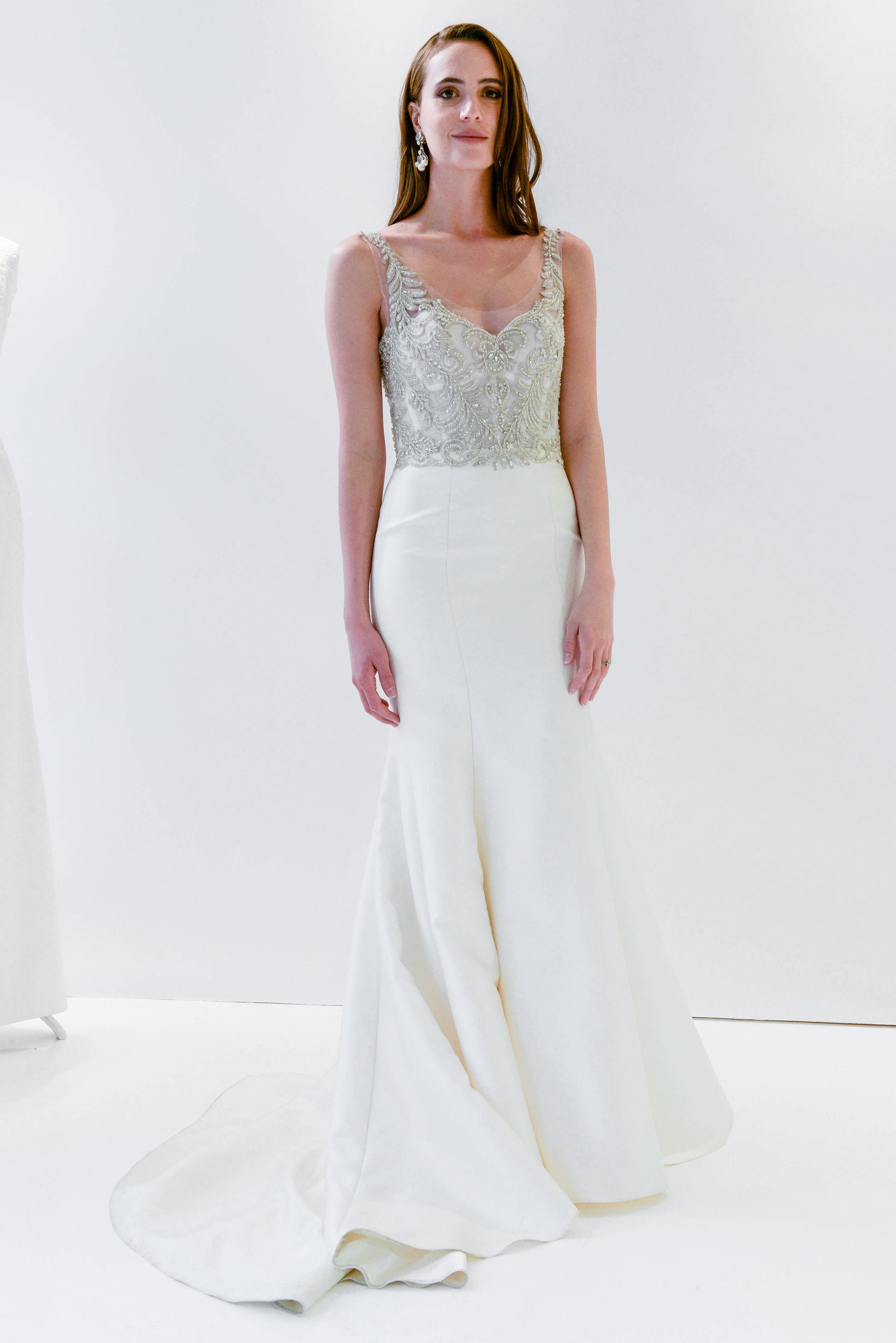 watters wtoo beaded trumpet sleeveless wedding dress spring 2018