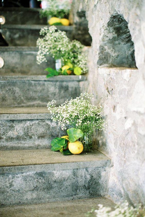 lemons on stairway