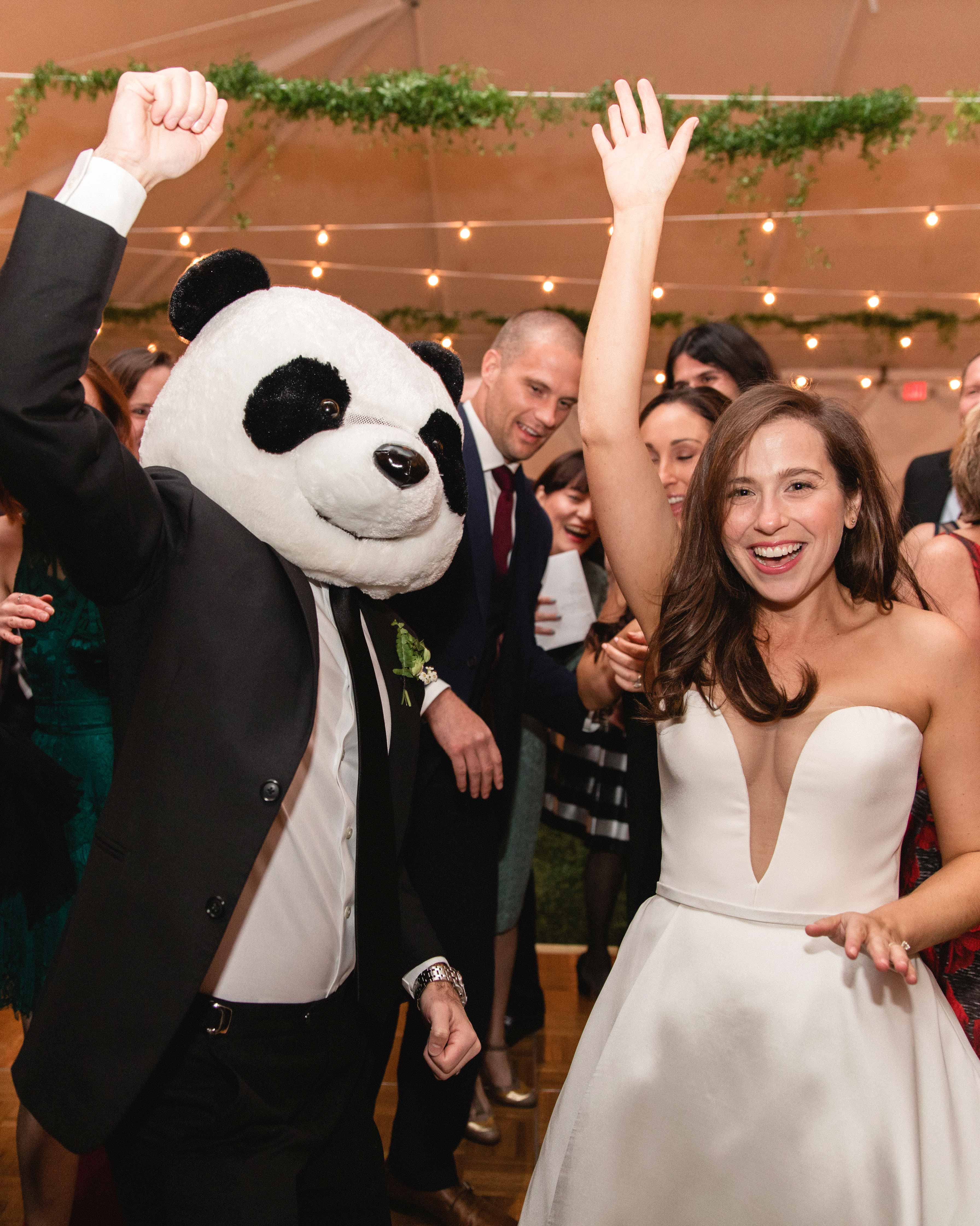 wedding dancing panda