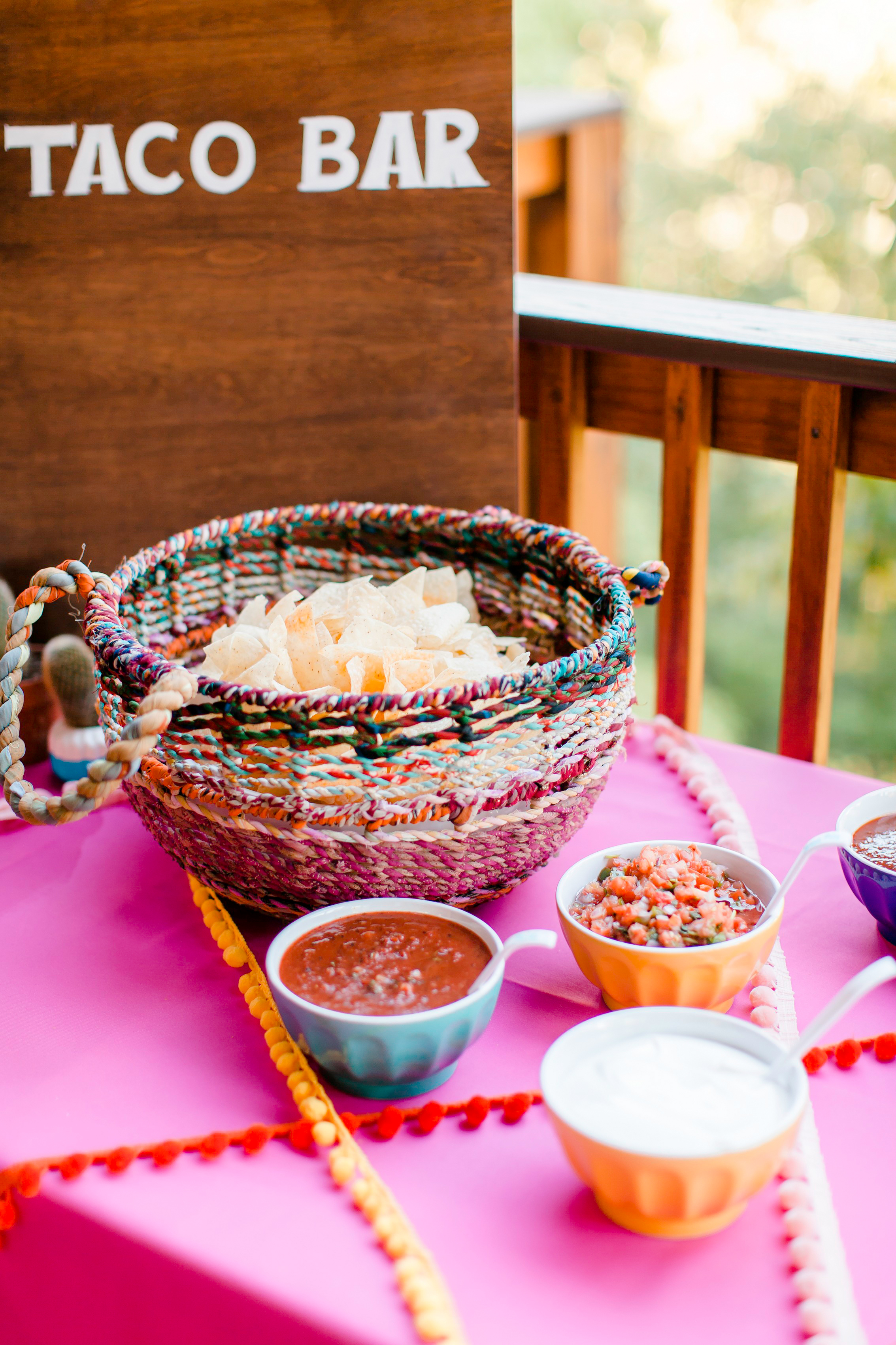 wedding taco bar