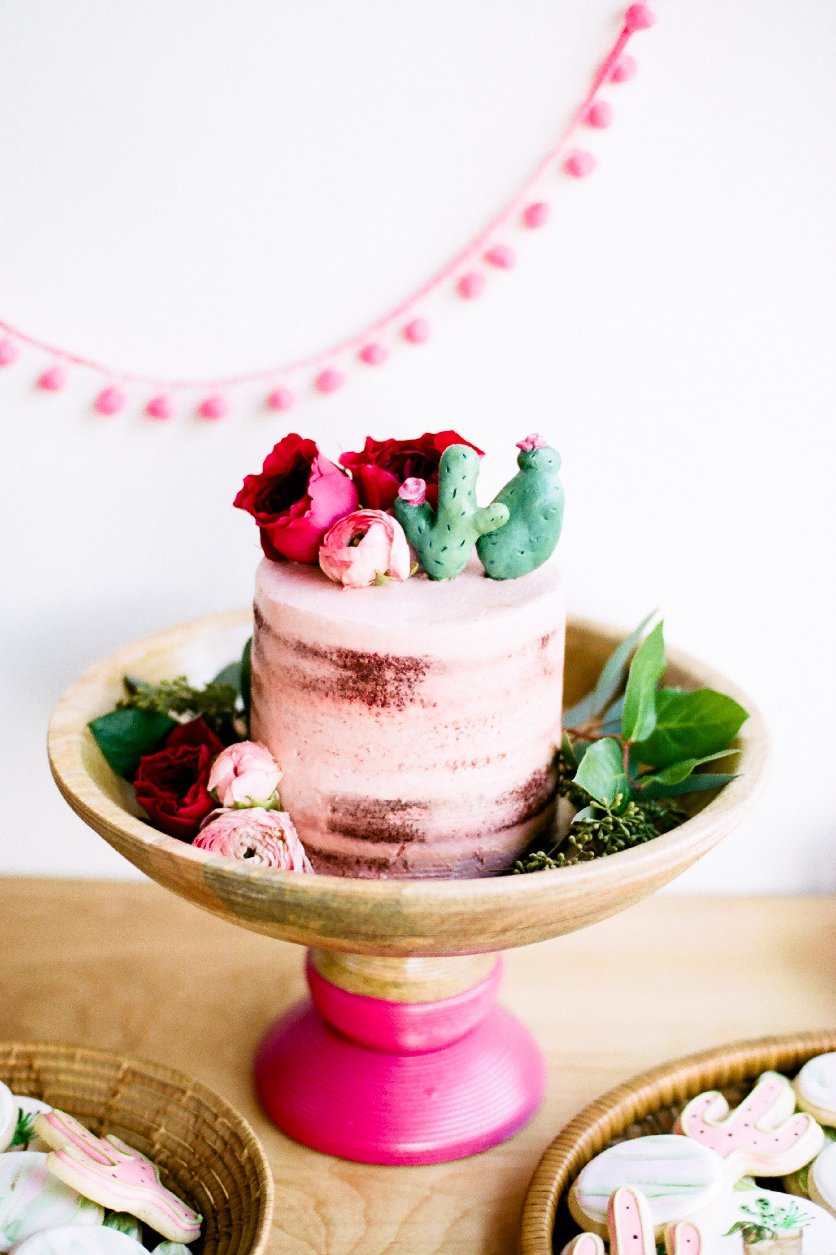 wedding cake cactus topper