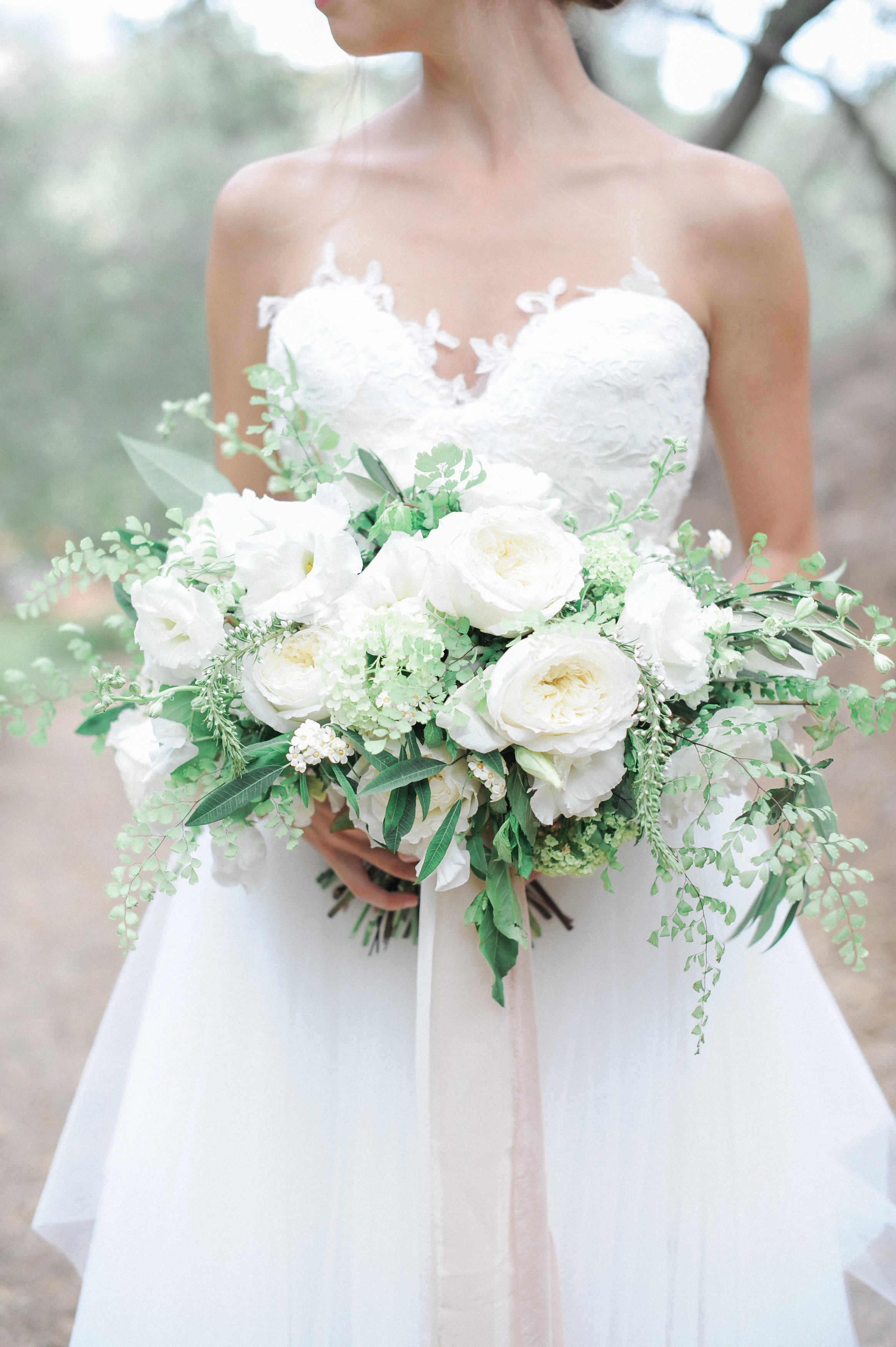 20 stunning wedding bouquets with ferns | martha stewart