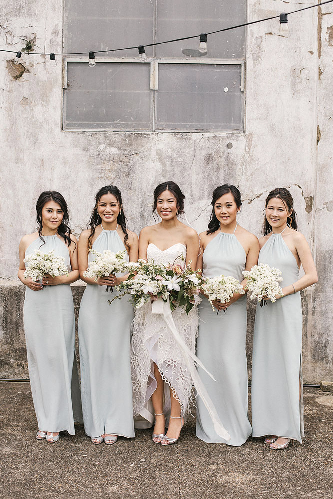 Blue Bridesmaids' Dresses