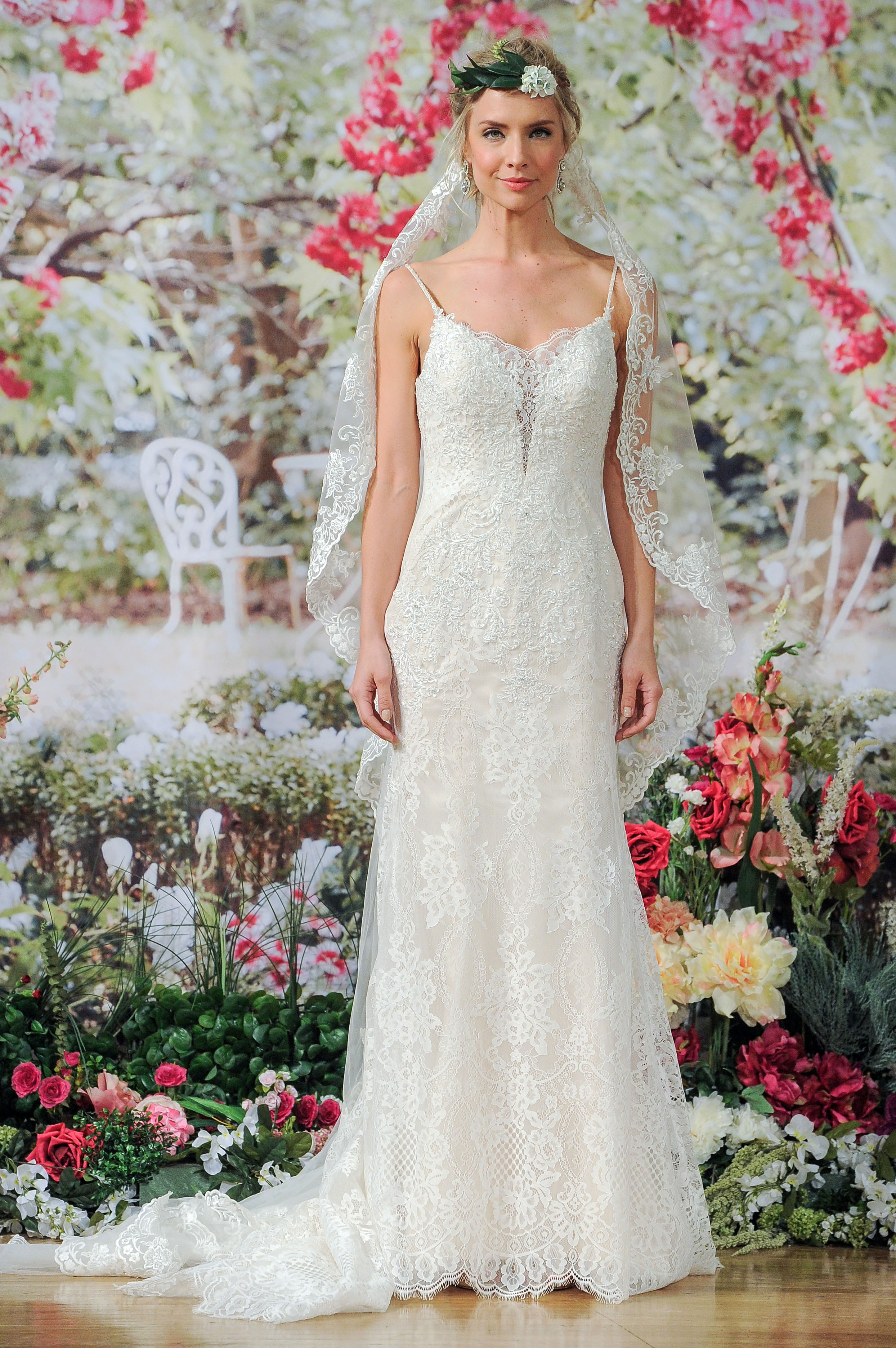 Maggie Sottero Fall 2017 Lace Wedding Dress with Straps