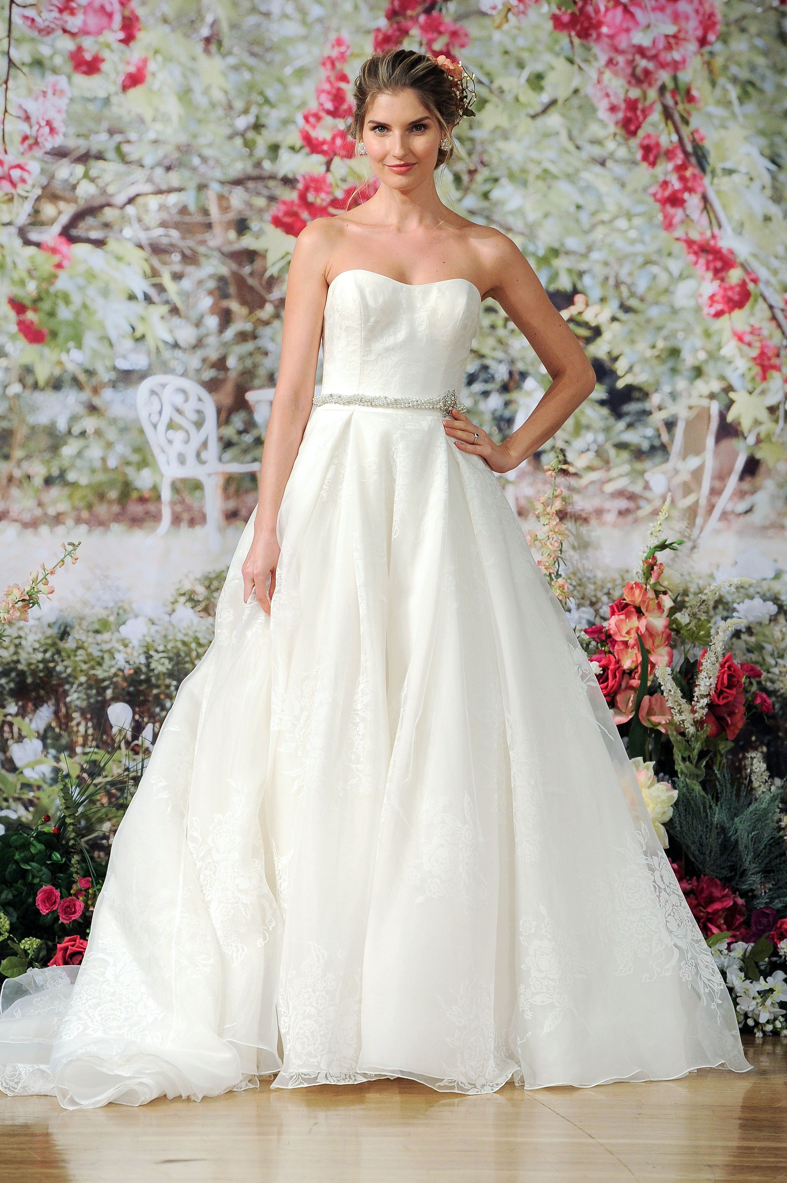 Maggie Sottero Fall 2017 Strapless Wedding Dress with Belt