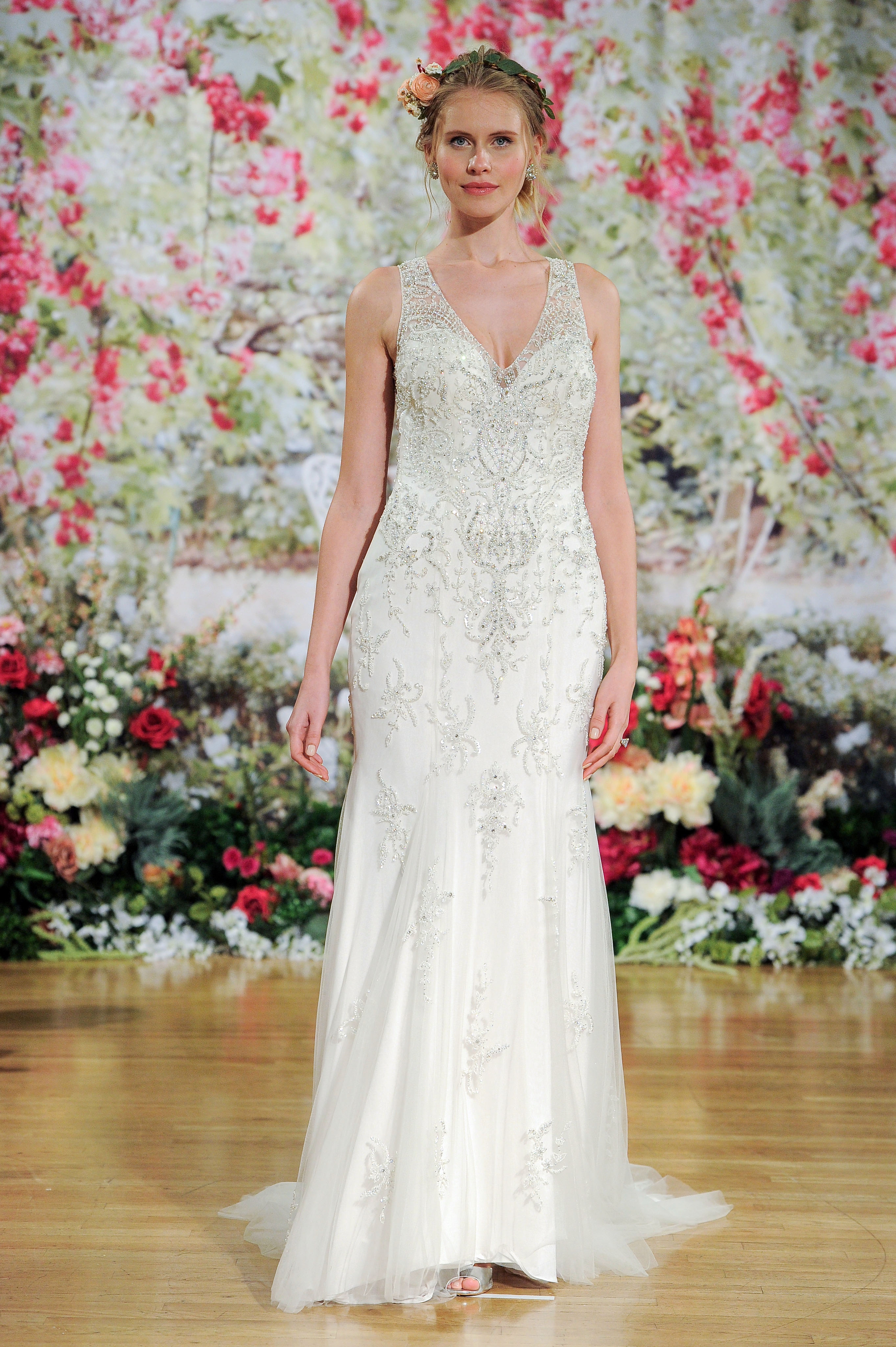 Maggie Sottero Fall 2017 V-Neck Wedding Dress with Beading