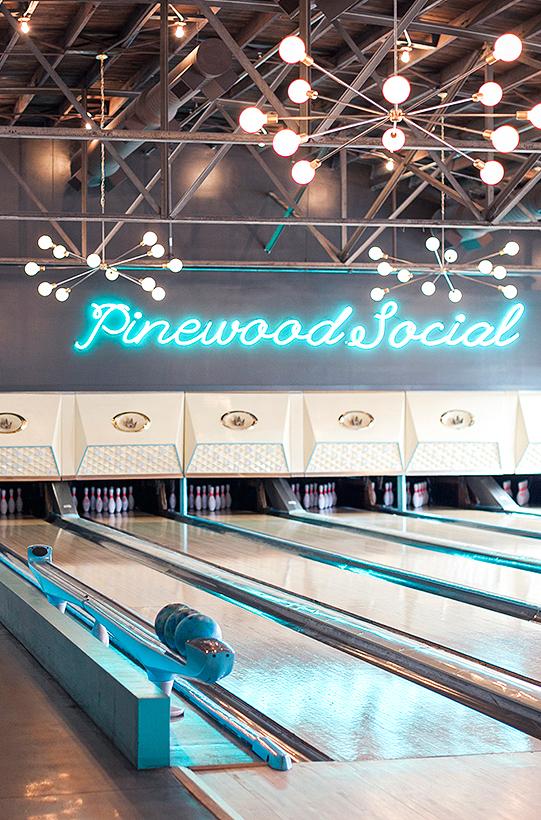 pinewood social bowling alleys