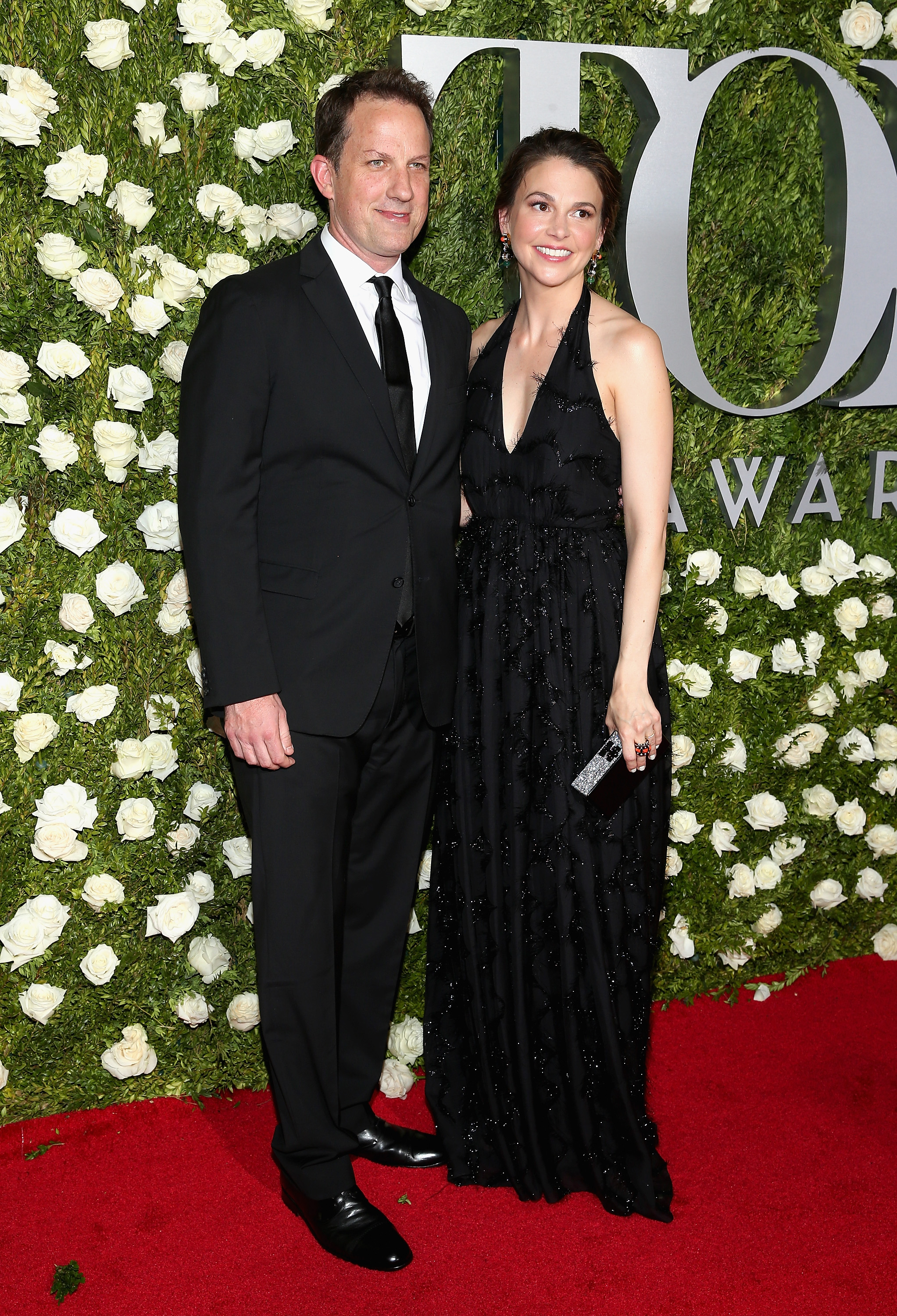 Ted Griffin and Sutton Foster at 2017 Tony Awards