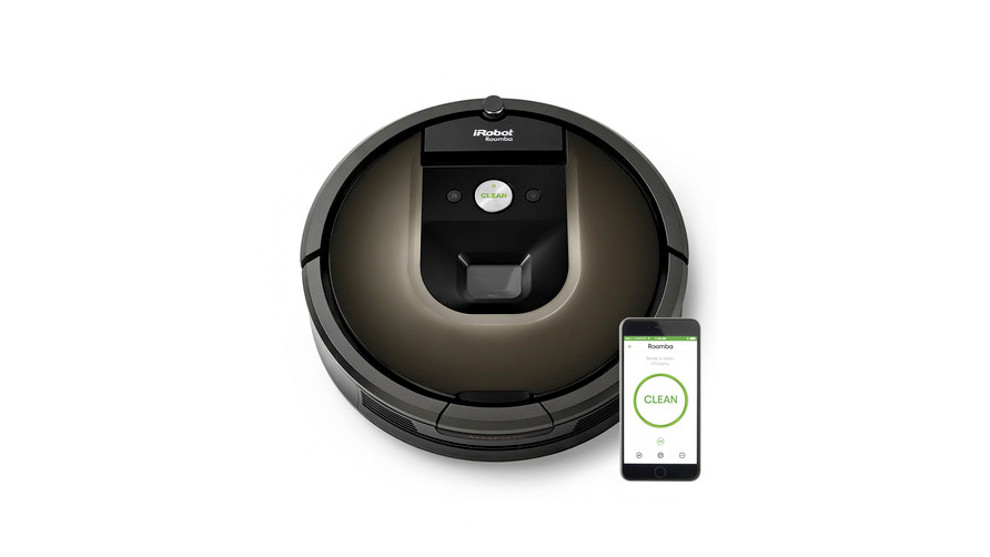 black roomba vacuum-cleaning robot