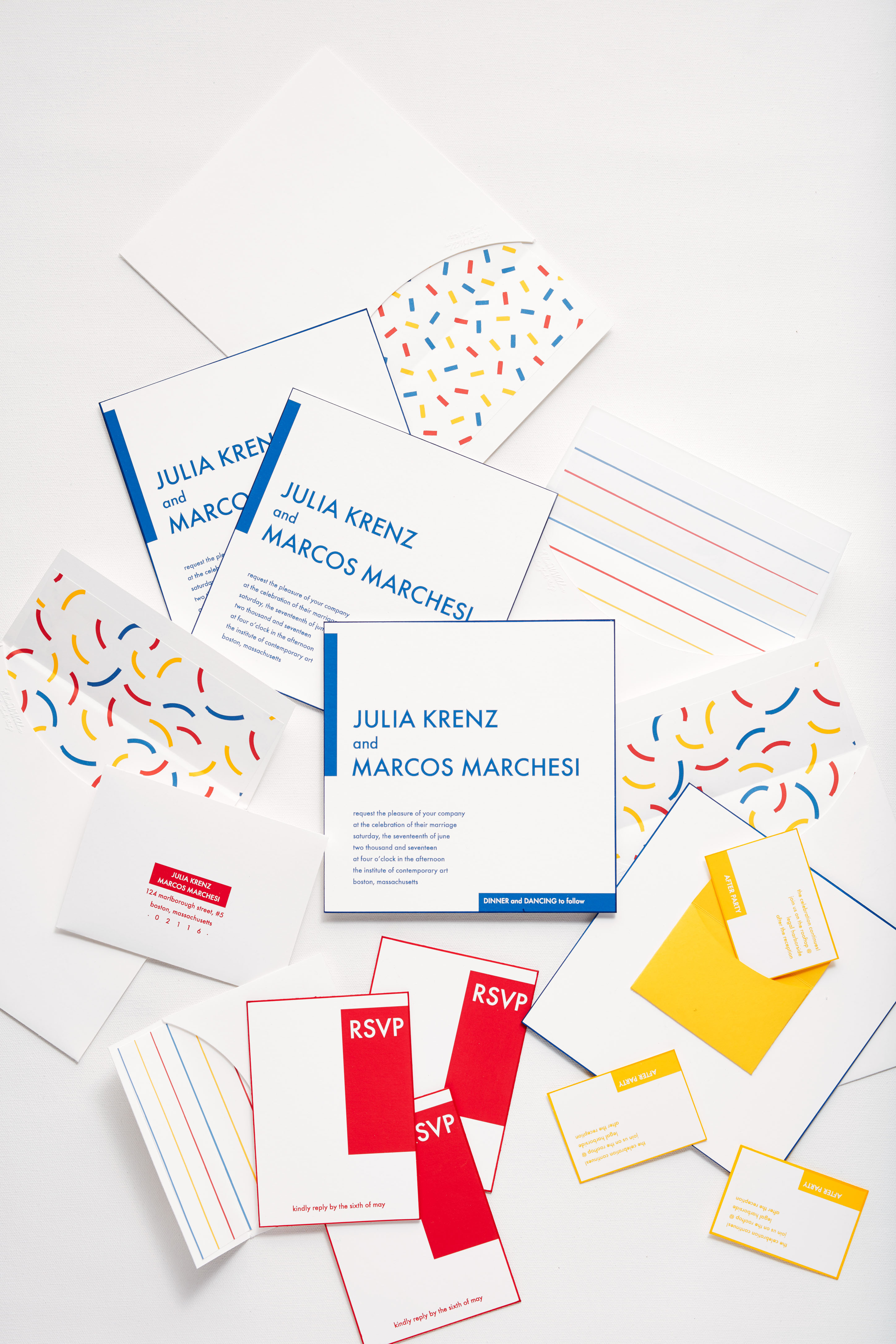 stationery primary colors