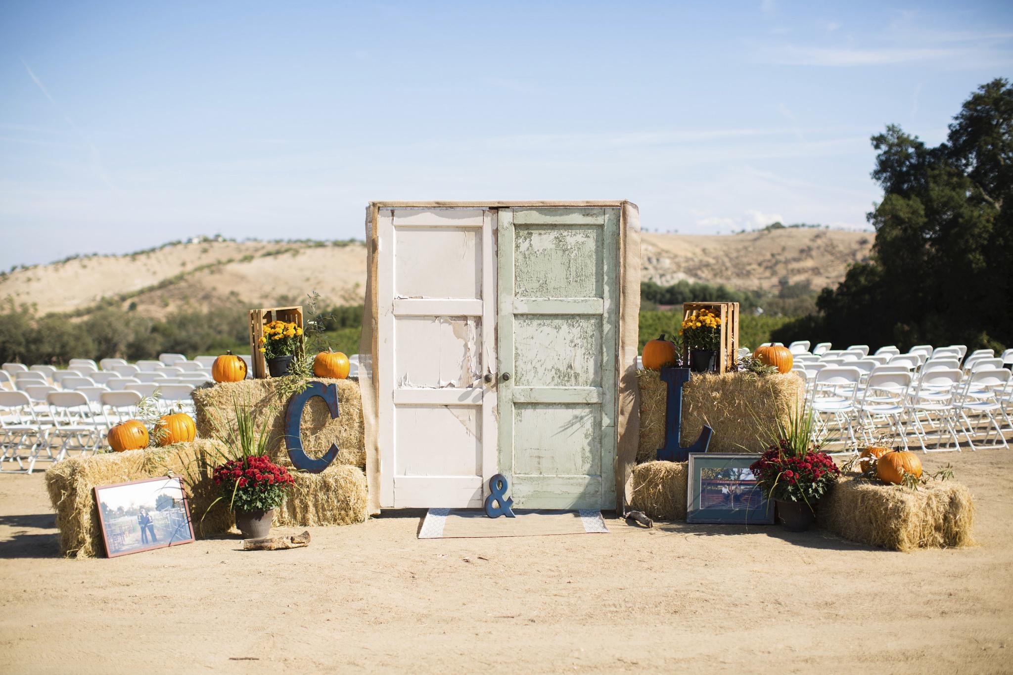 door for wedding reception