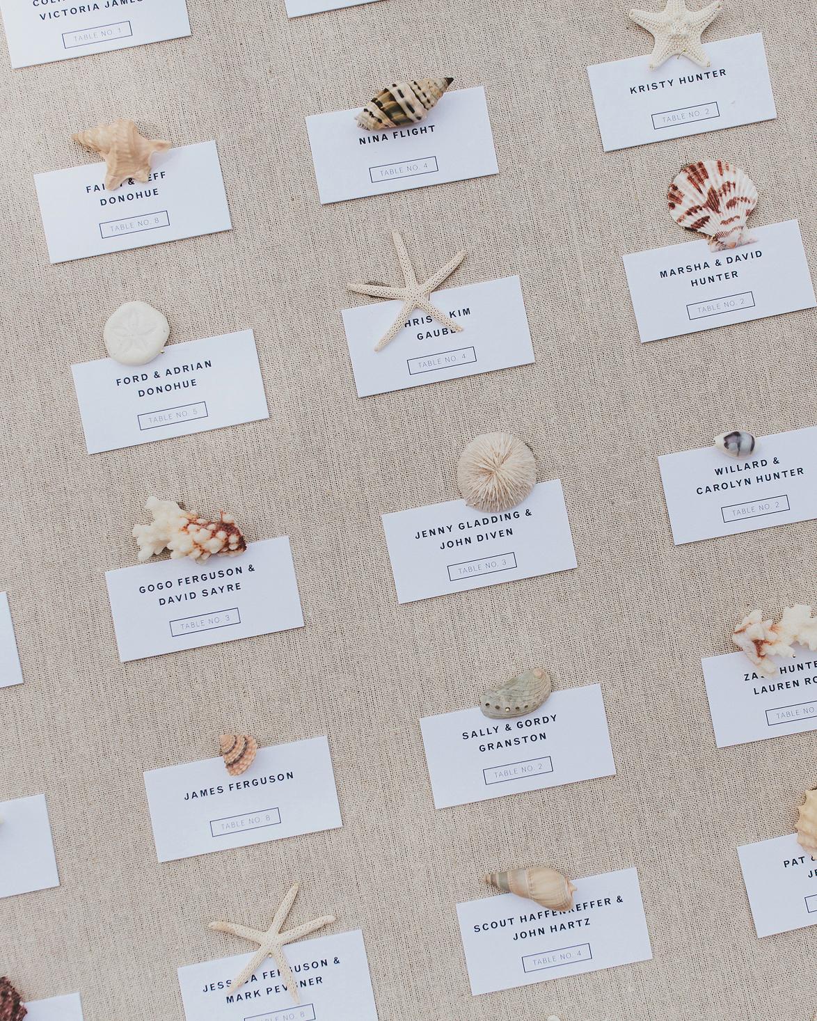hadley corey wedding escort cards