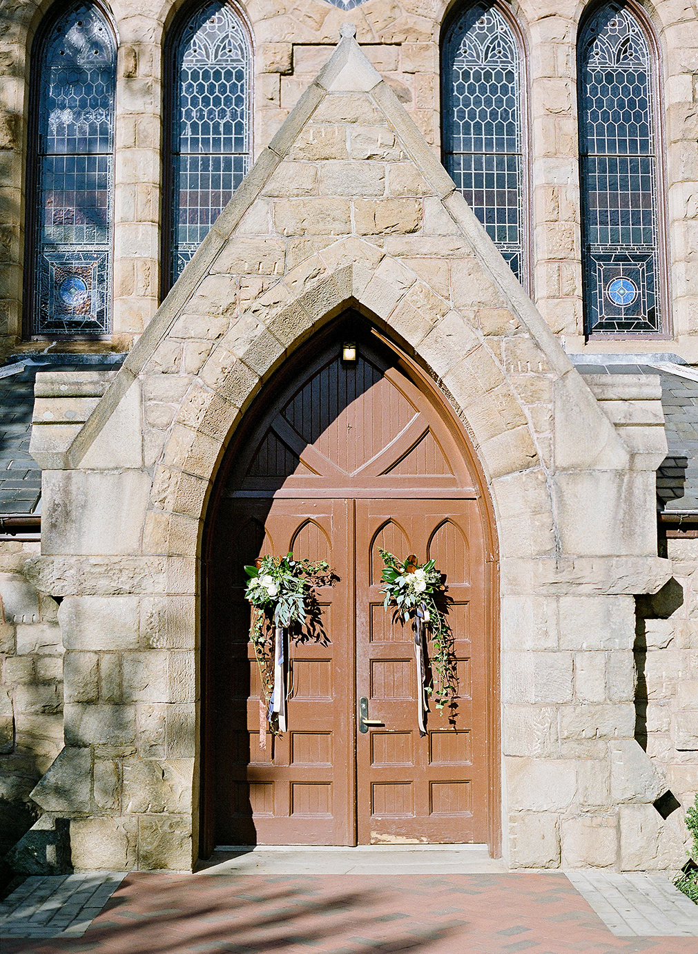 anne and staton wedding church doors