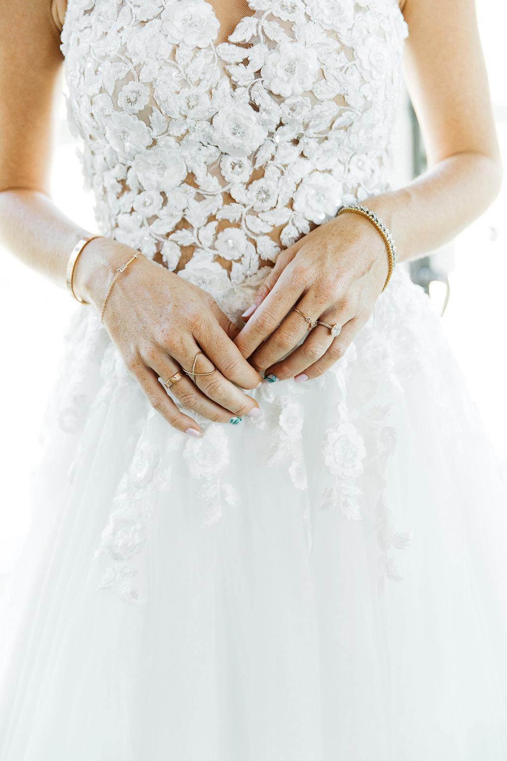 emily adhir wedding jewelry manicure