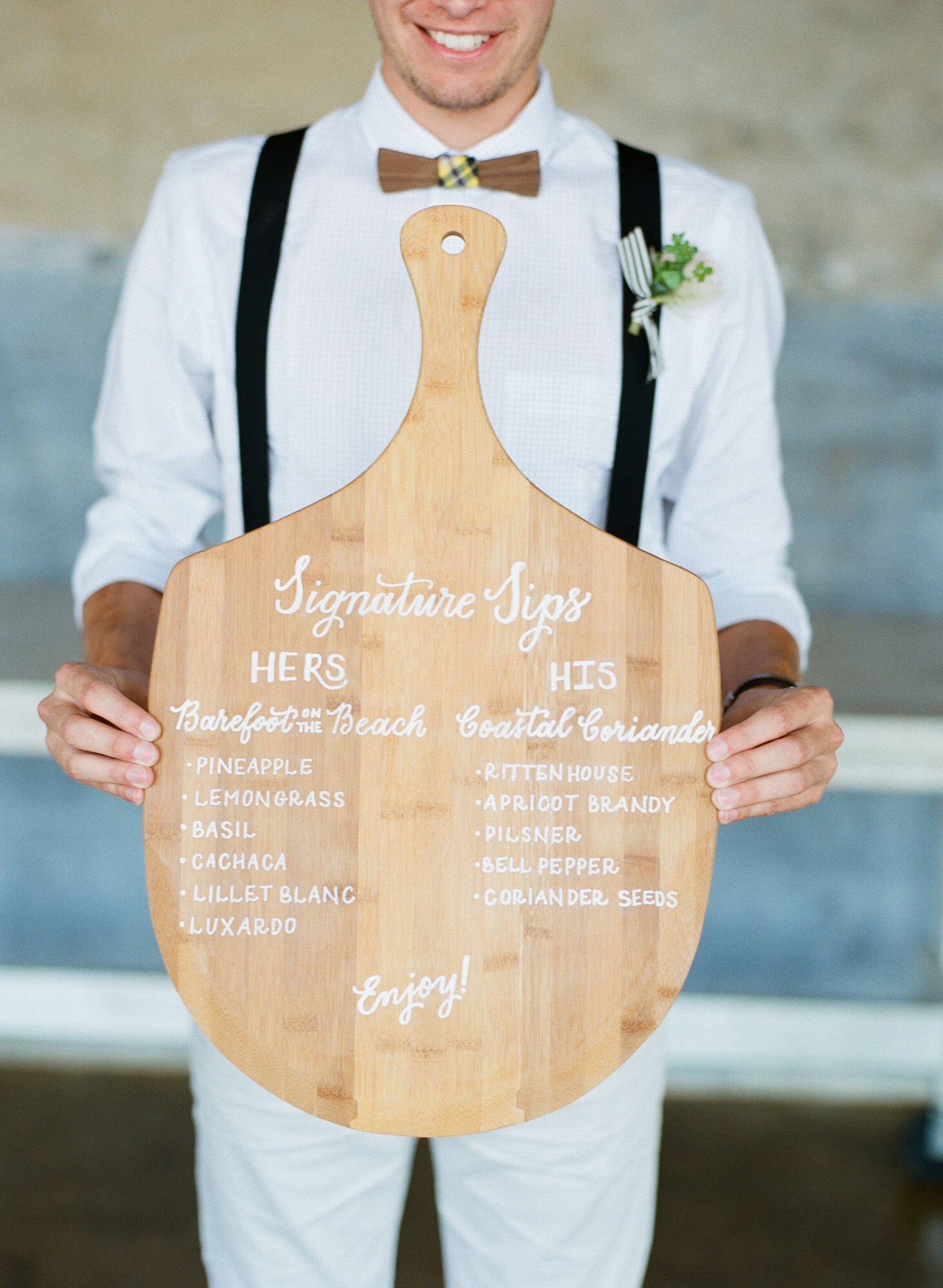 pizza paddle signature drink menu