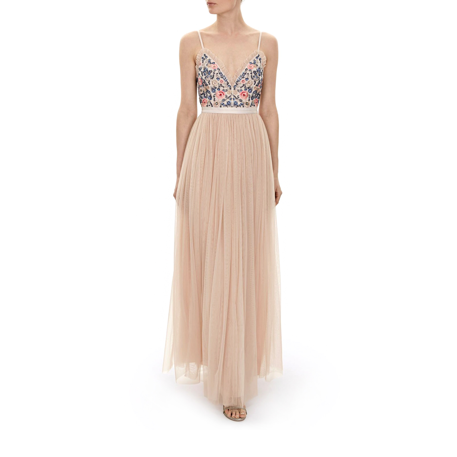 needle and thread whisper maxi dress