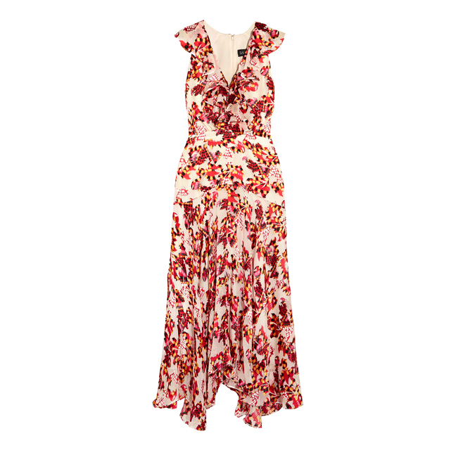 saloni rita ruffled midi dress