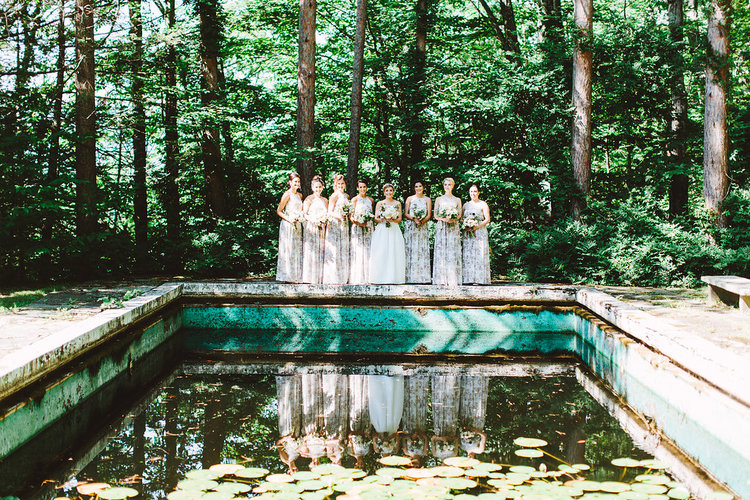 summer wedding details jove meyer events bride bridesmaids