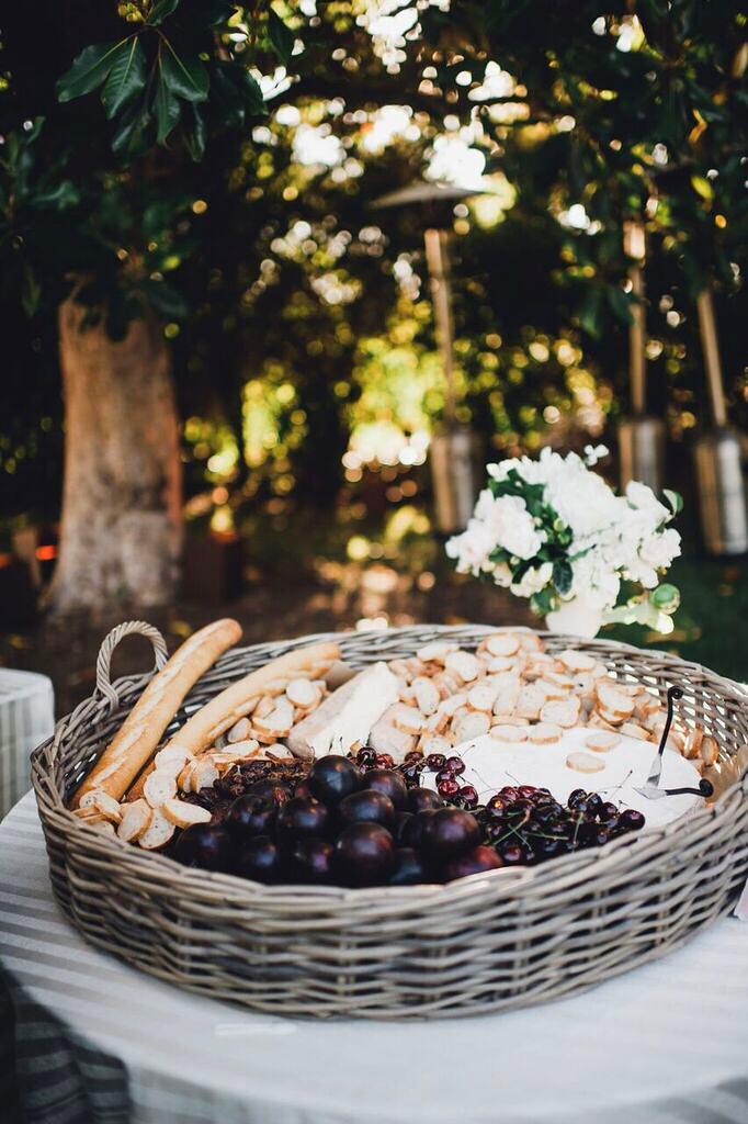 summer wedding detail shannon leahy bread fruit tray
