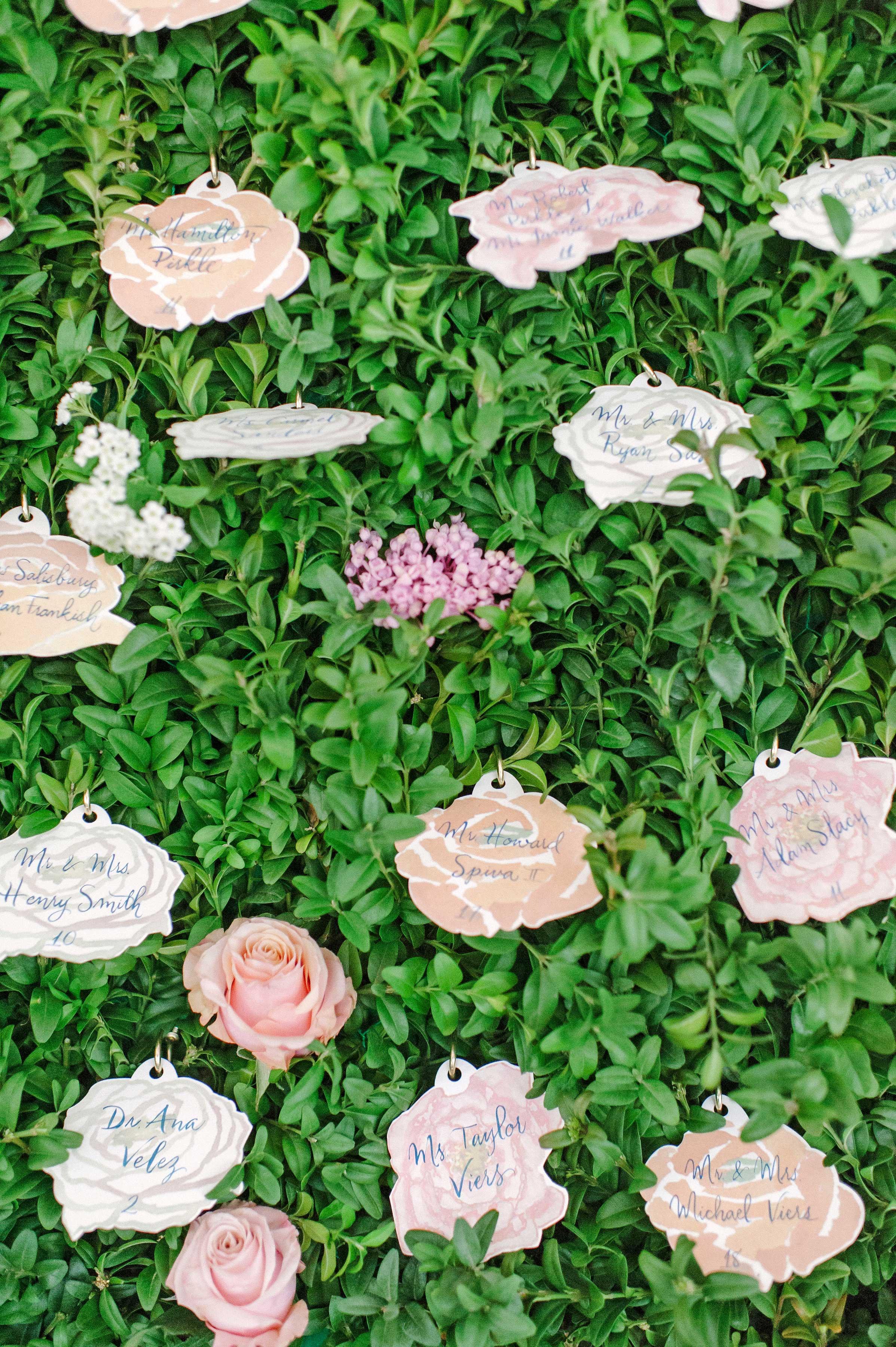 stefanie drew wedding escortcards