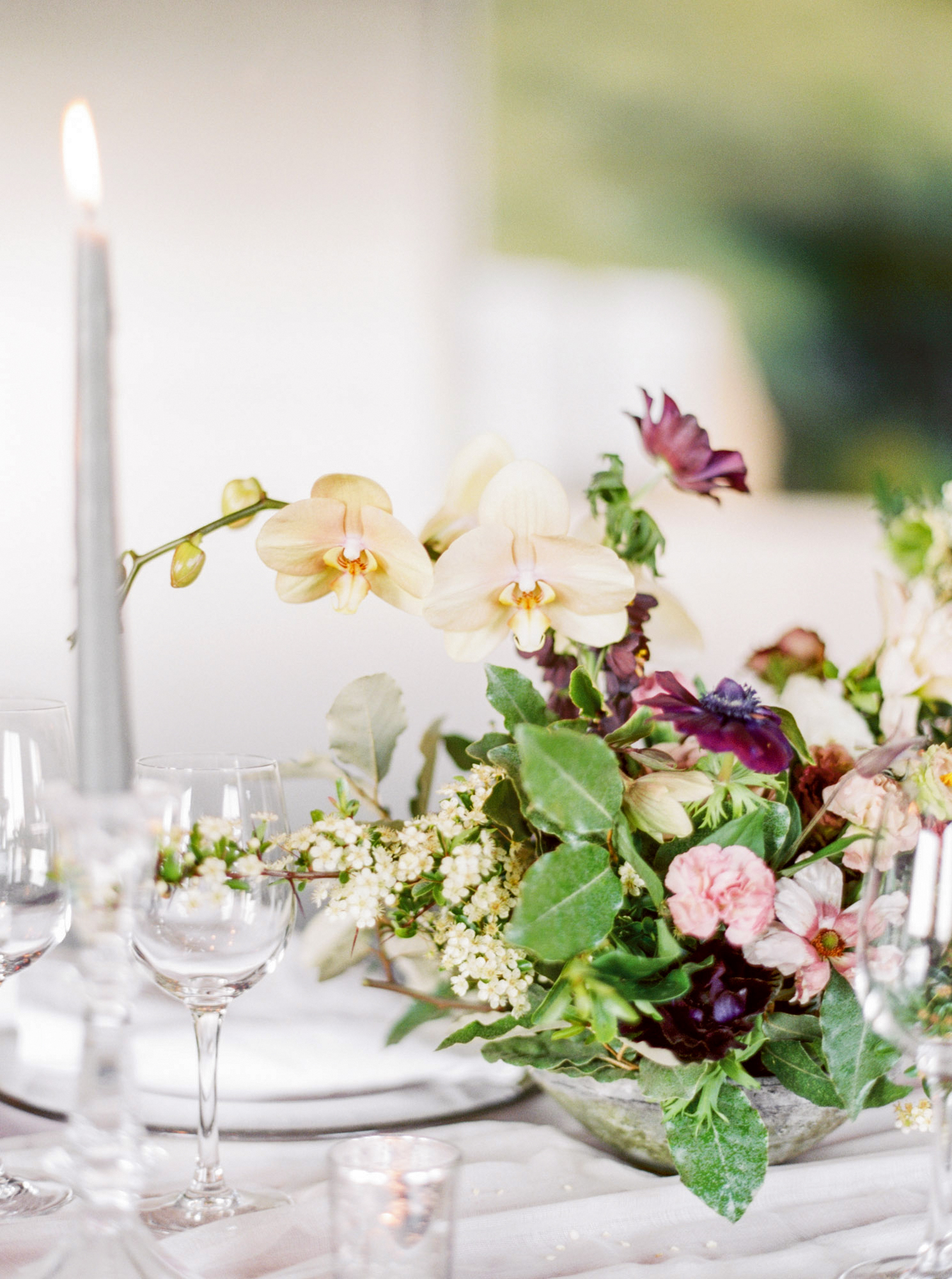 summer wedding centerpieces floral orchids