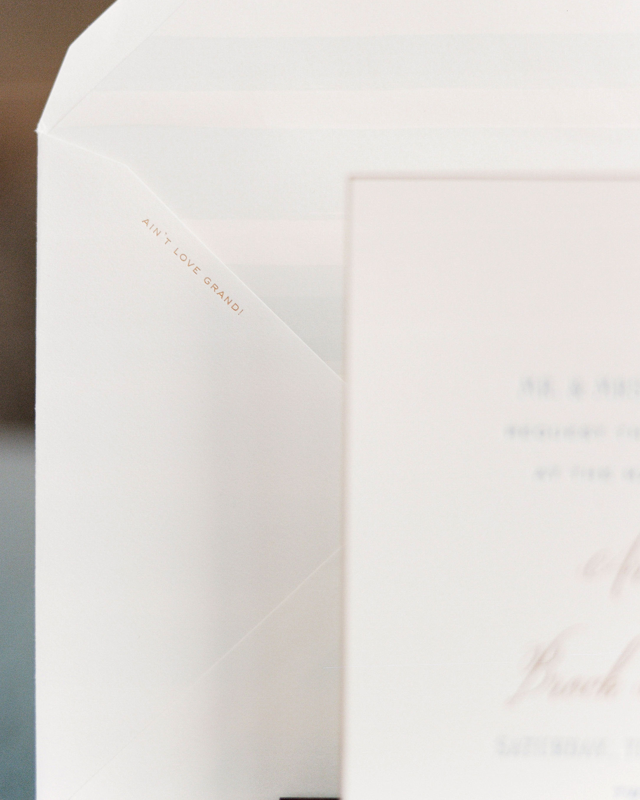 wedding envelope detail