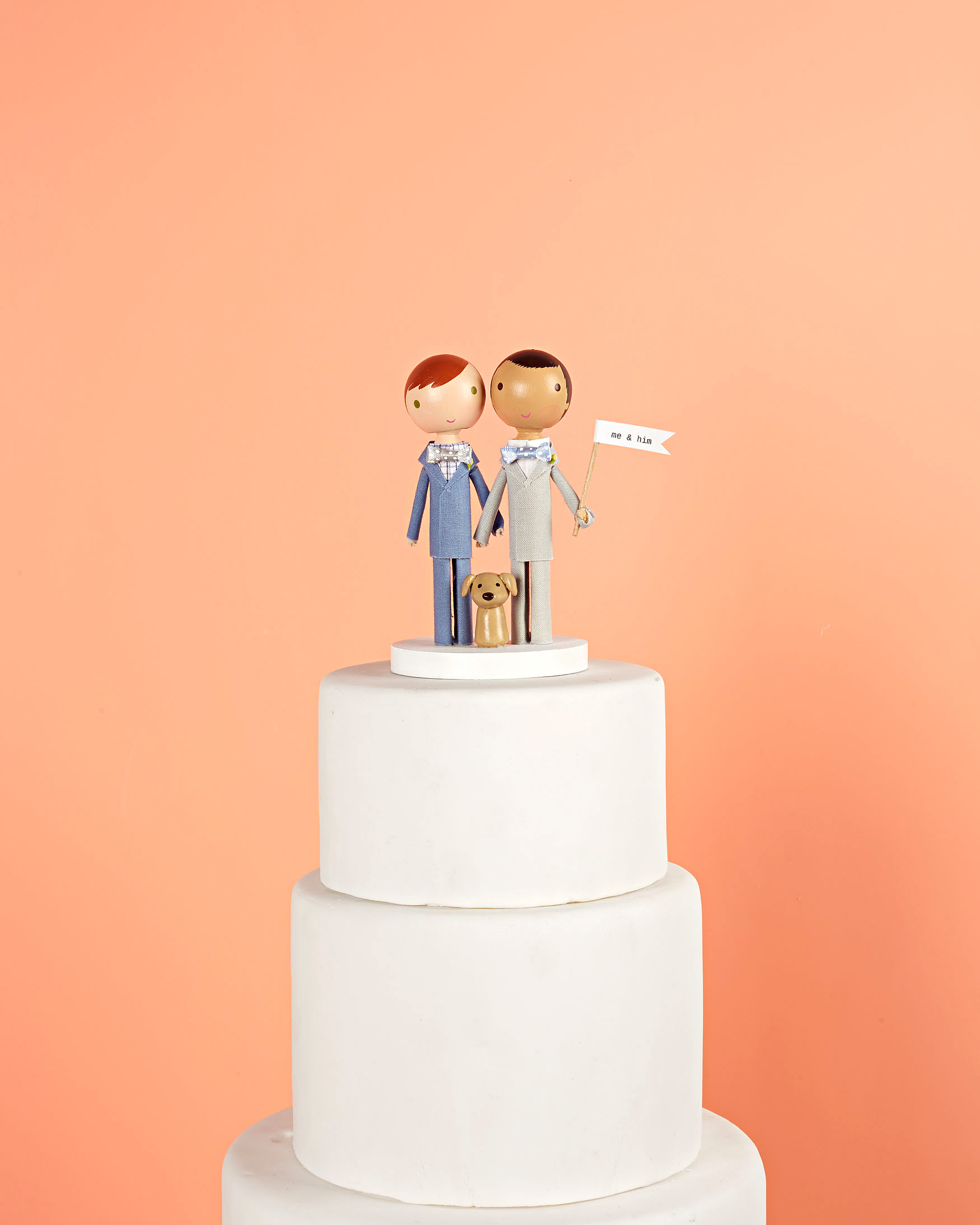 me and him custom cake topper