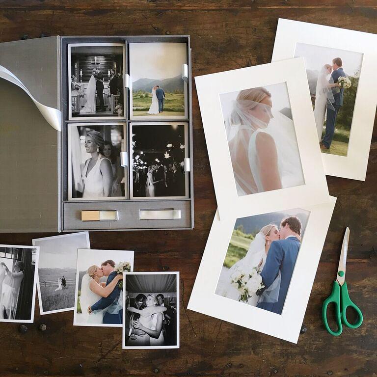 wedding album alternatives matted prints
