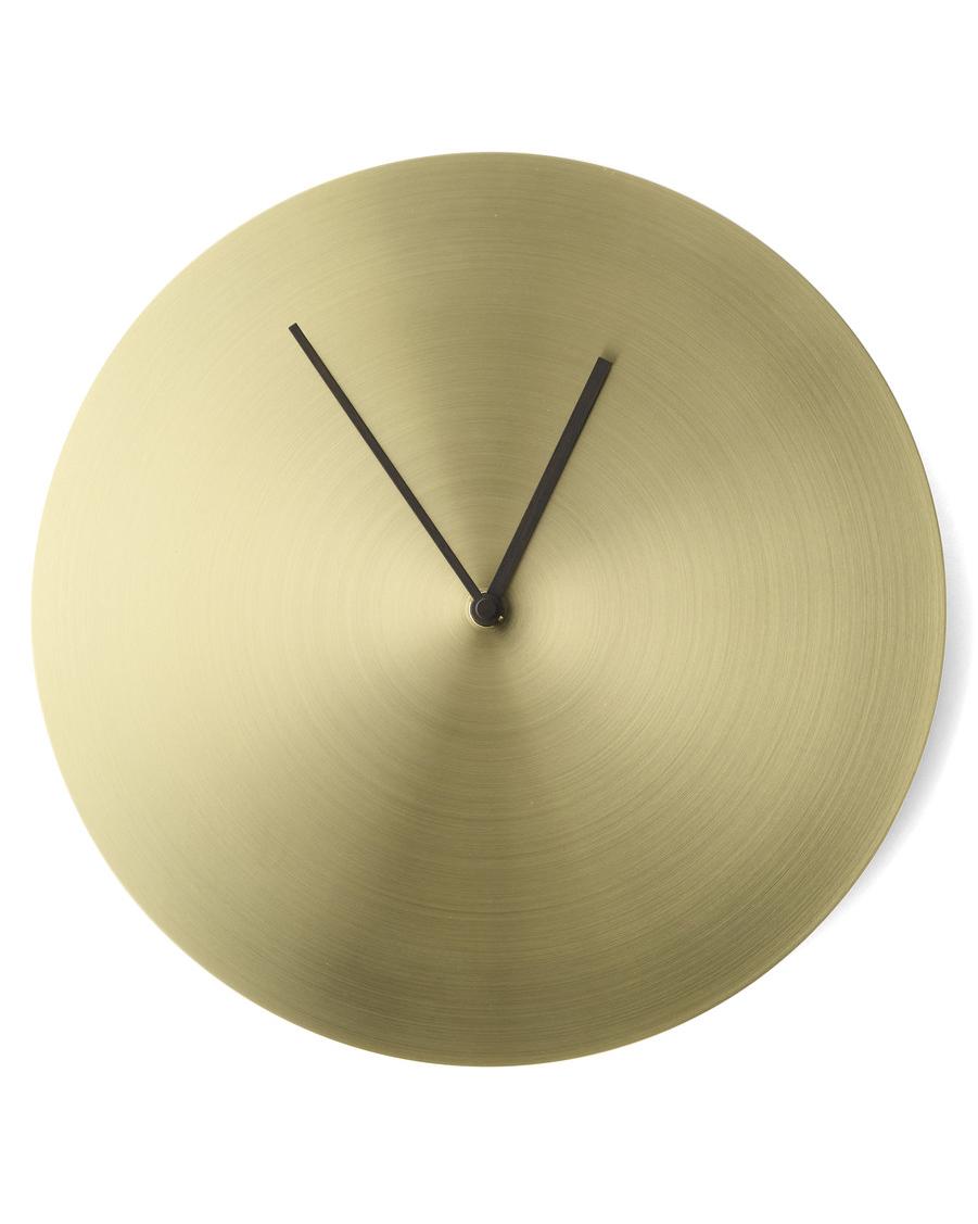 modern gold wall clock