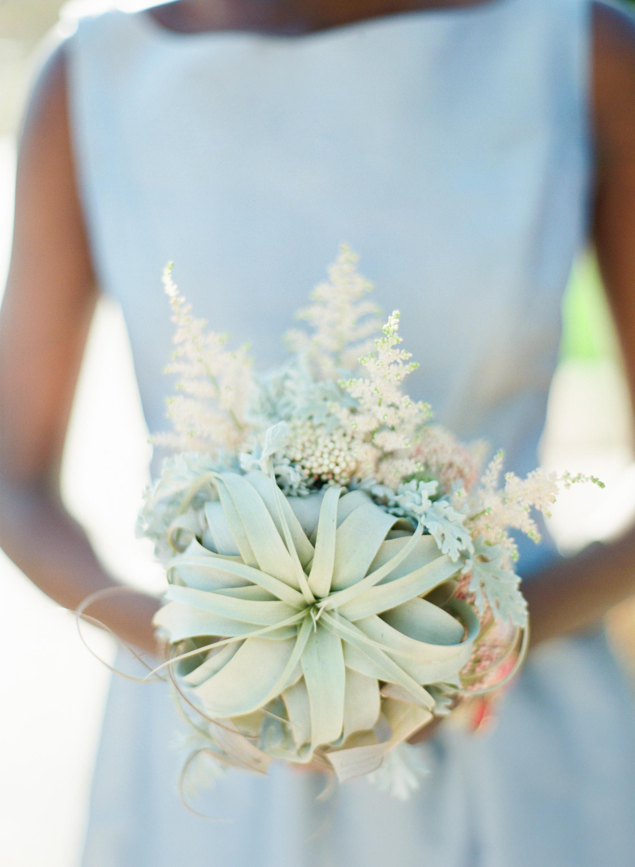 Air plant desert wedding bouquet